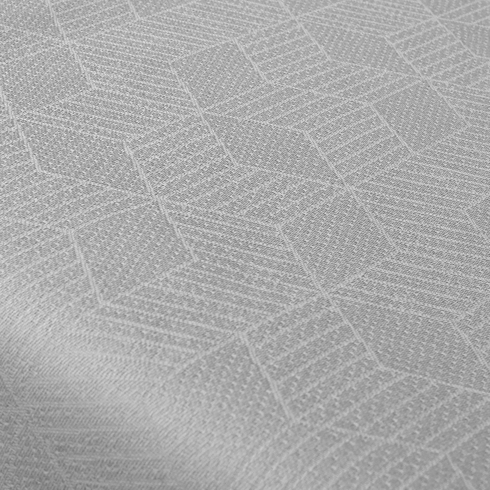 chemin de table 45x150 jacquard 100 coton cube gris perle eur 19 26 picclick fr. Black Bedroom Furniture Sets. Home Design Ideas
