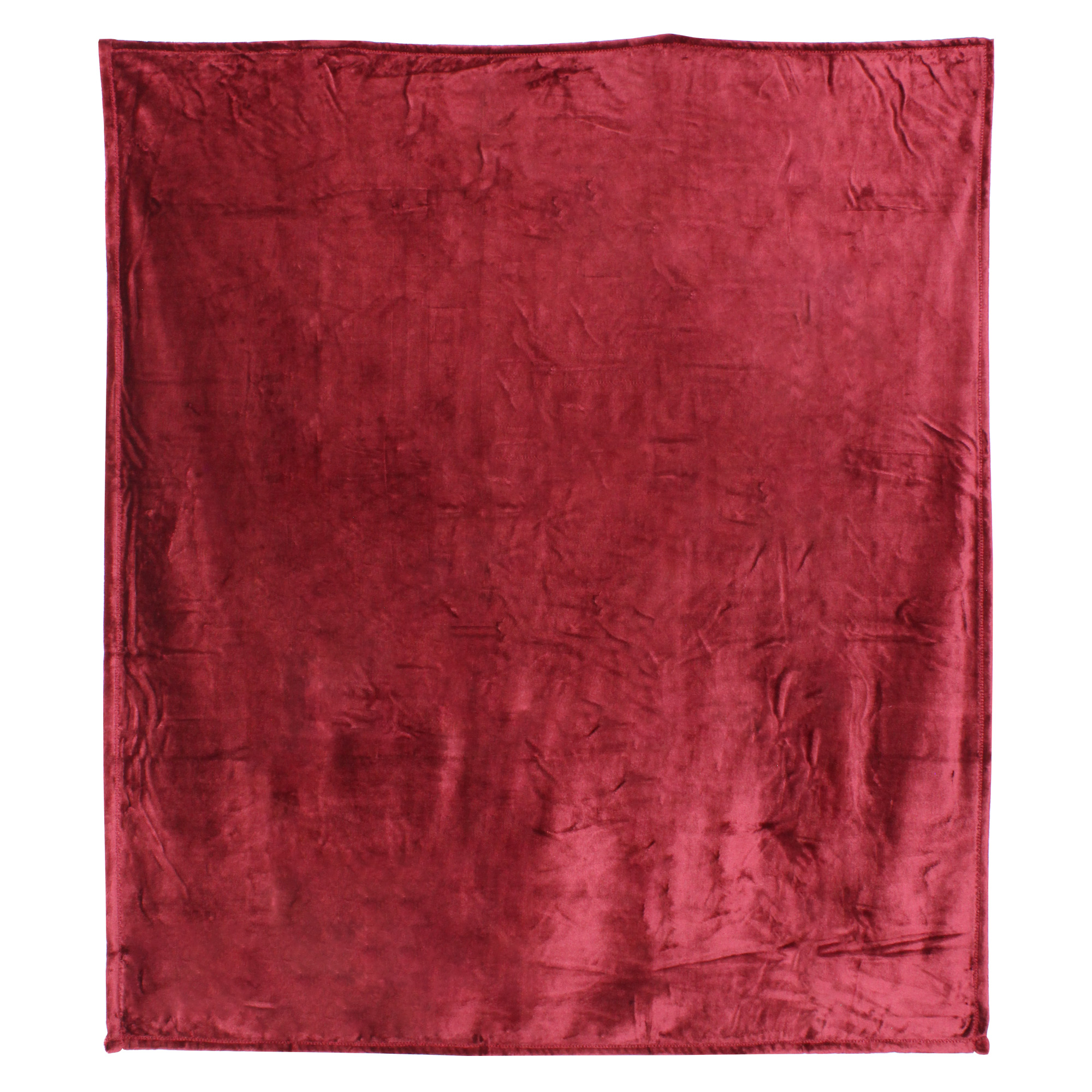 Couverture-polaire-microvelours-180x240-VELVET-Bourgogne-Rouge