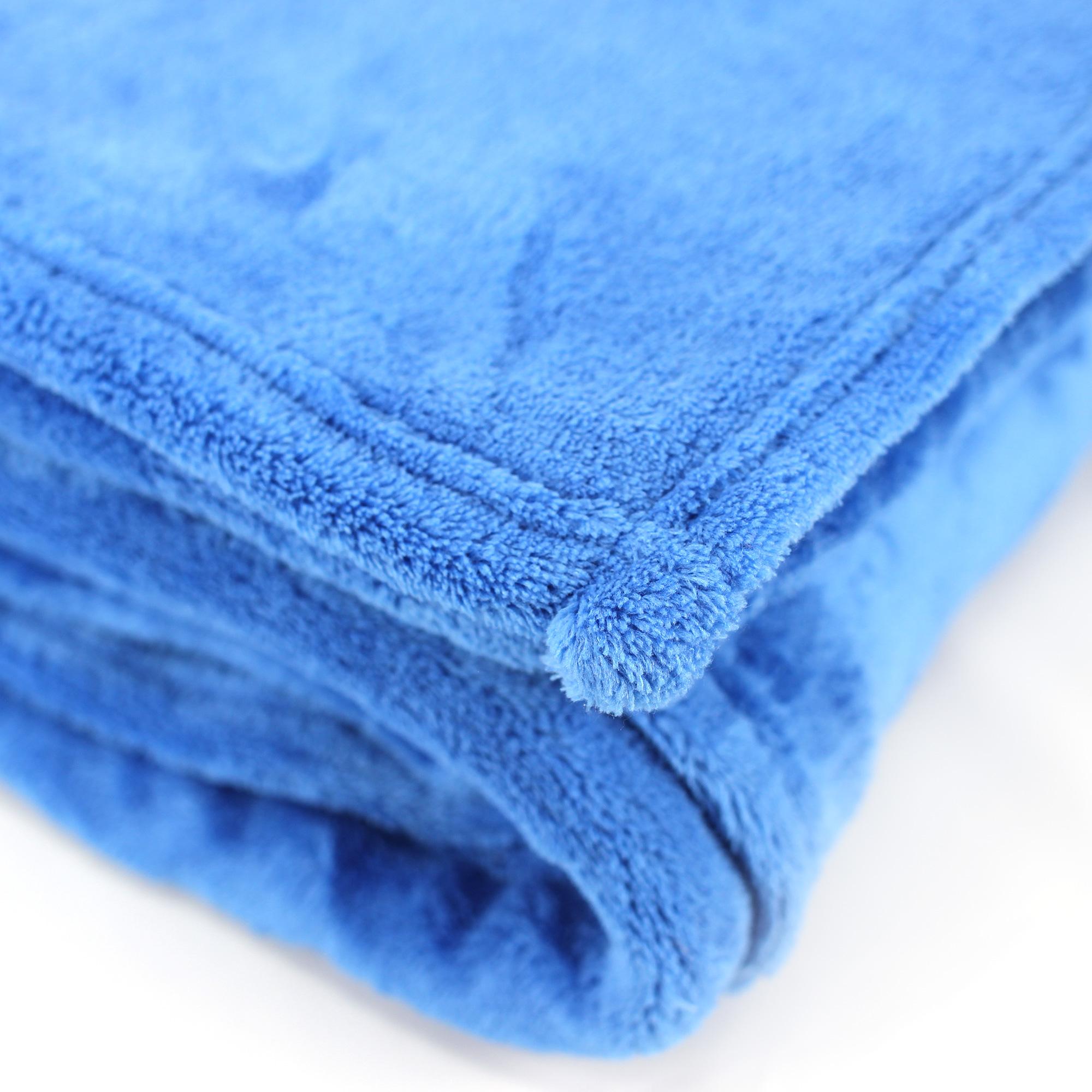 Couverture-polaire-240x260-Microfibre-280g-m2-APOLLO-Bleu-Azur