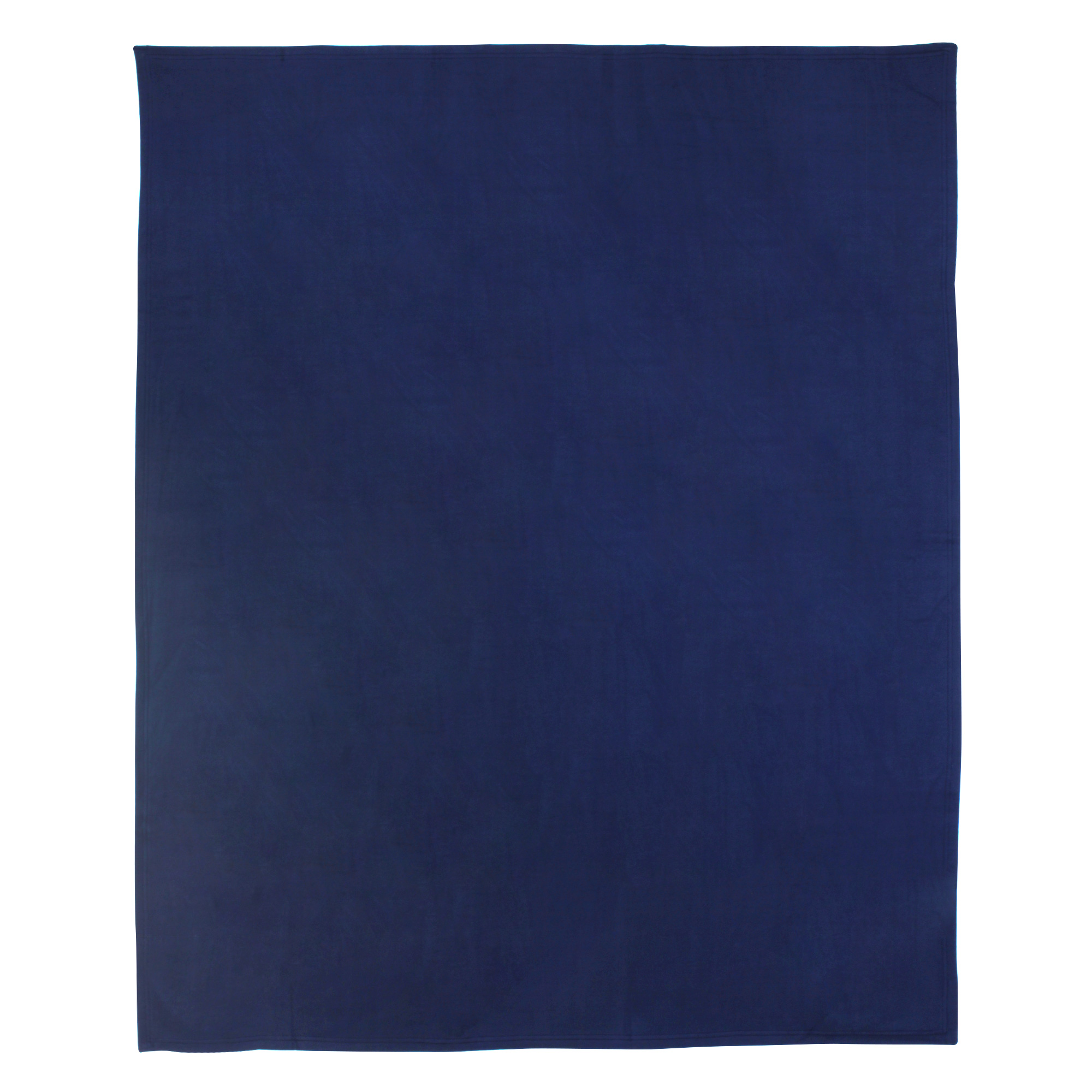 Couverture-polaire-180x220-100-Polyester-350g-m2-TEDDY-Bleu-Marine