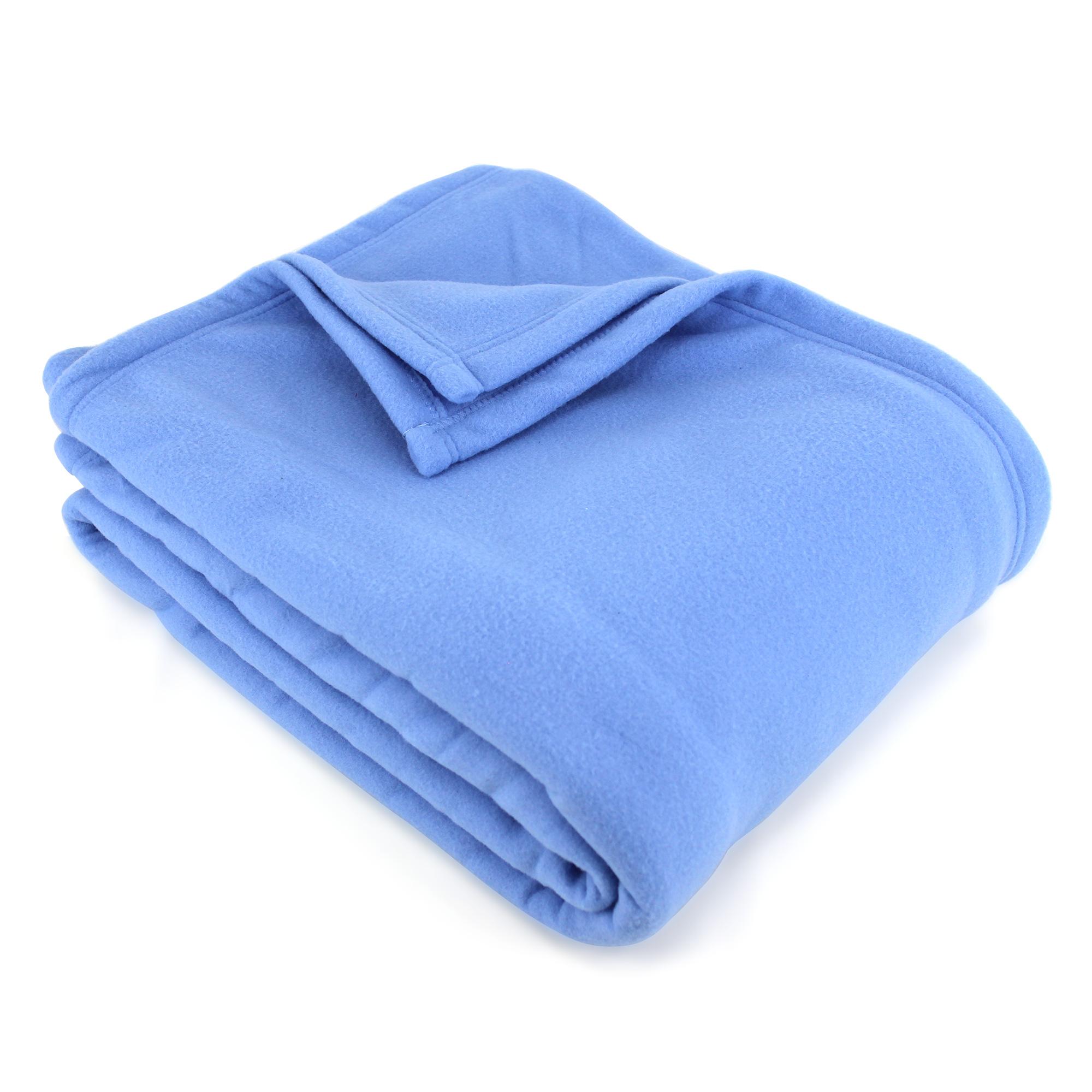 Couverture-polaire-220x240-100-Polyester-350g-m2-TEDDY-Bleu-Azur