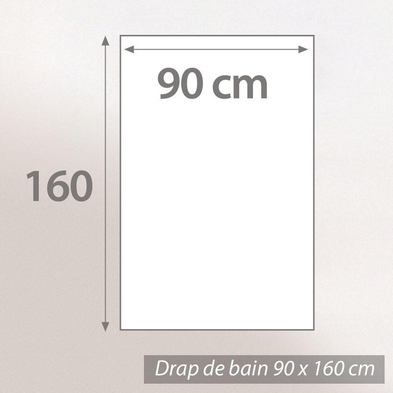 Drap-de-bain-90x160-nid-d-039-abeille-PURE-WAFFLE-300-g-m-noir
