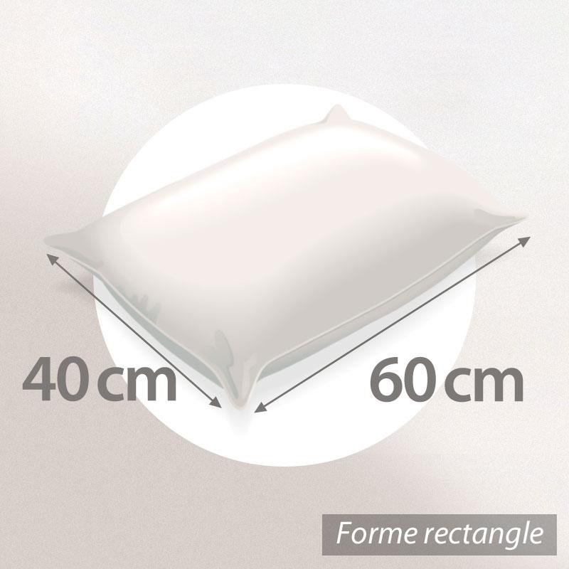 Oreiller-60x40-GRIZZ-039-LIT-FLOTEX-Fibre-creuse-Polyester