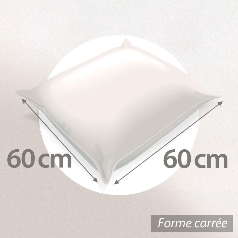 Oreiller-60x60-GRIZZ-039-LIT-FLOTEX-Fibre-creuse-Polyester