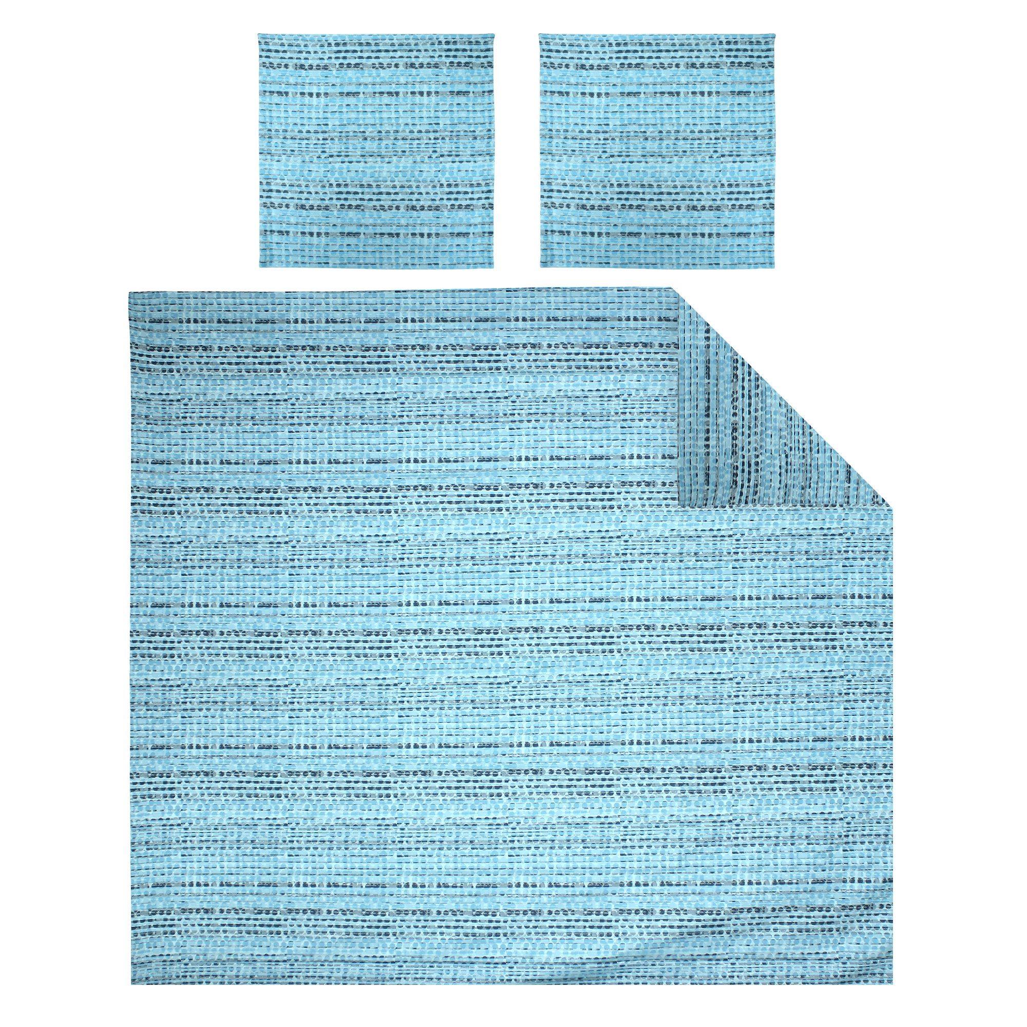 Parure-de-lit-260x240-Satin-de-coton-LOUVRE-Bleu-clair