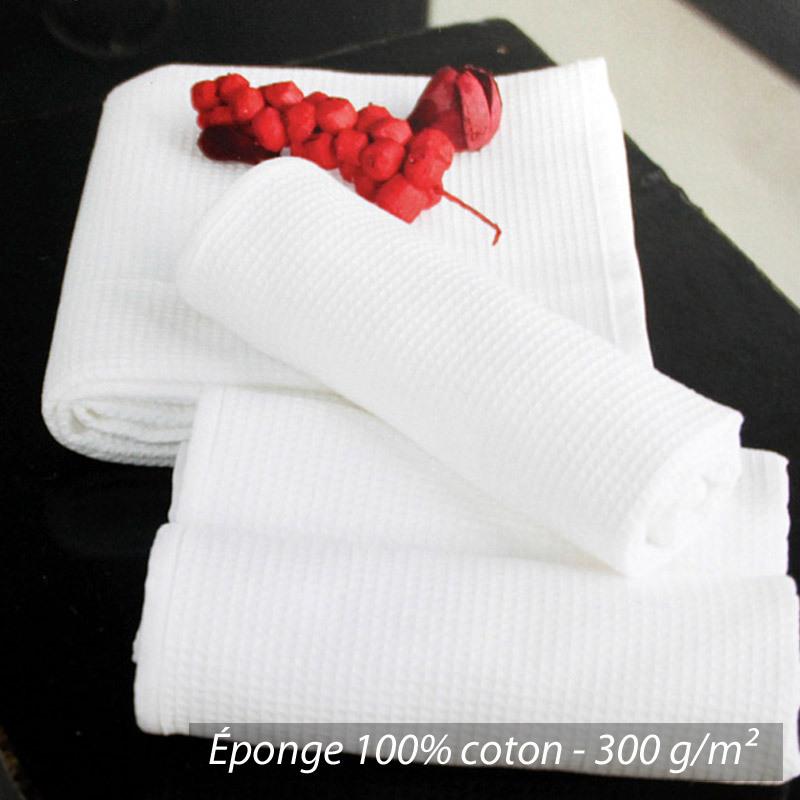 Serviette-de-toilette-50x100-nid-d-039-abeille-PURE-WAFFLE-300-g-m-noir