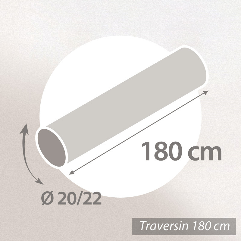 Traversin-180-GRIZZ-039-LIT-FLOTEX-Fibre-creuse-Polyester