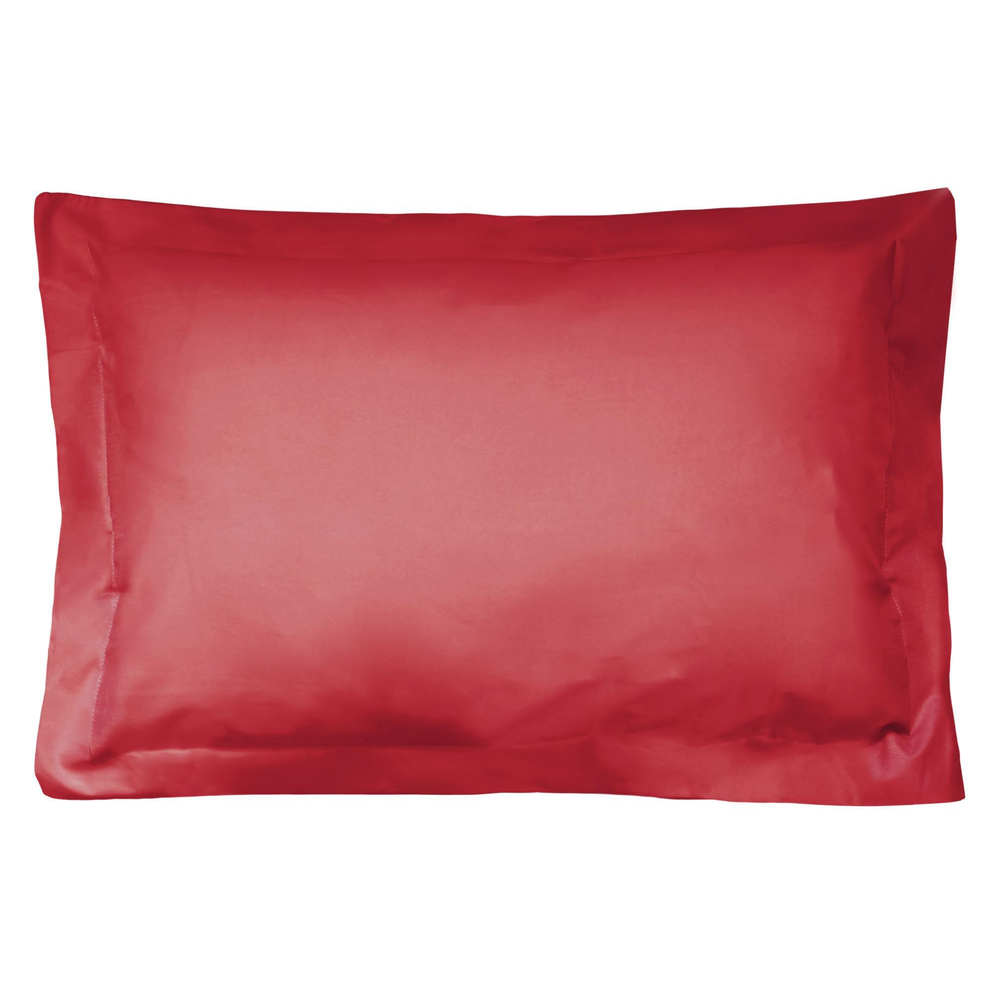 taie d 39 oreiller 80x50cm uni pur coton alto rouge garance. Black Bedroom Furniture Sets. Home Design Ideas
