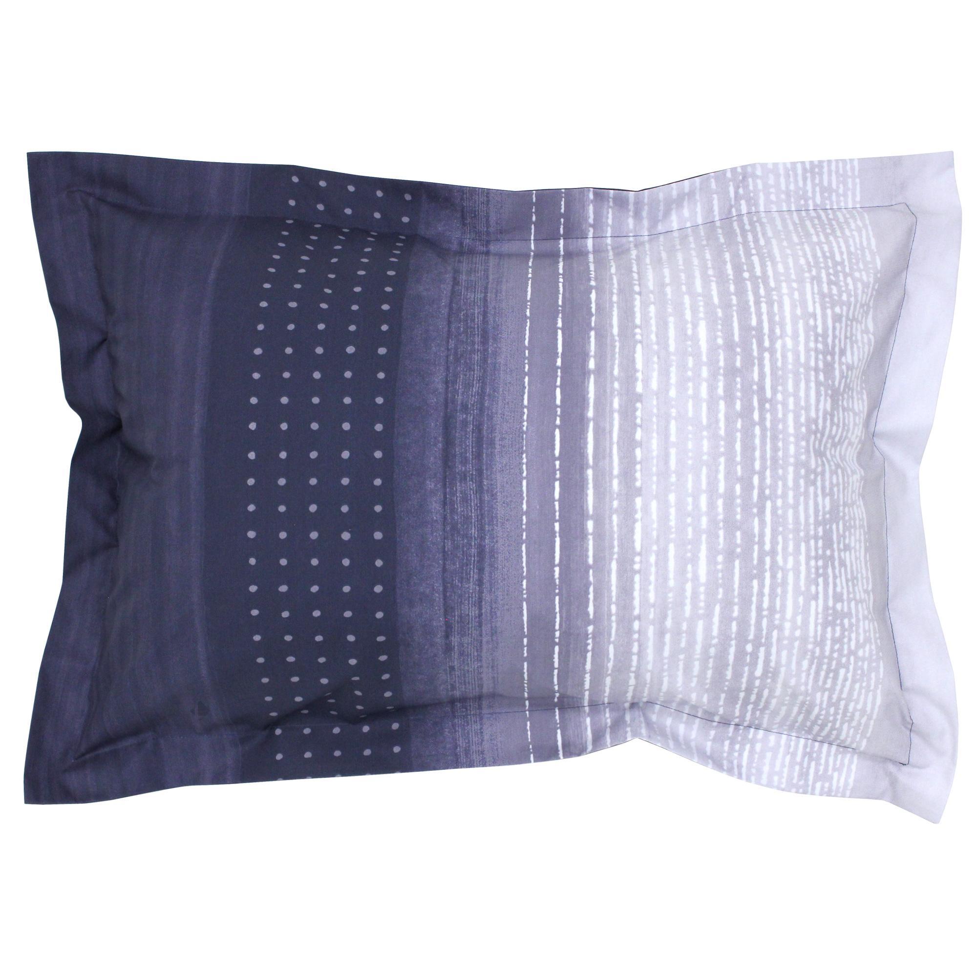 Linnea Housse de Couette 280x240 cm Percale Pur Coton Jazz Bleu