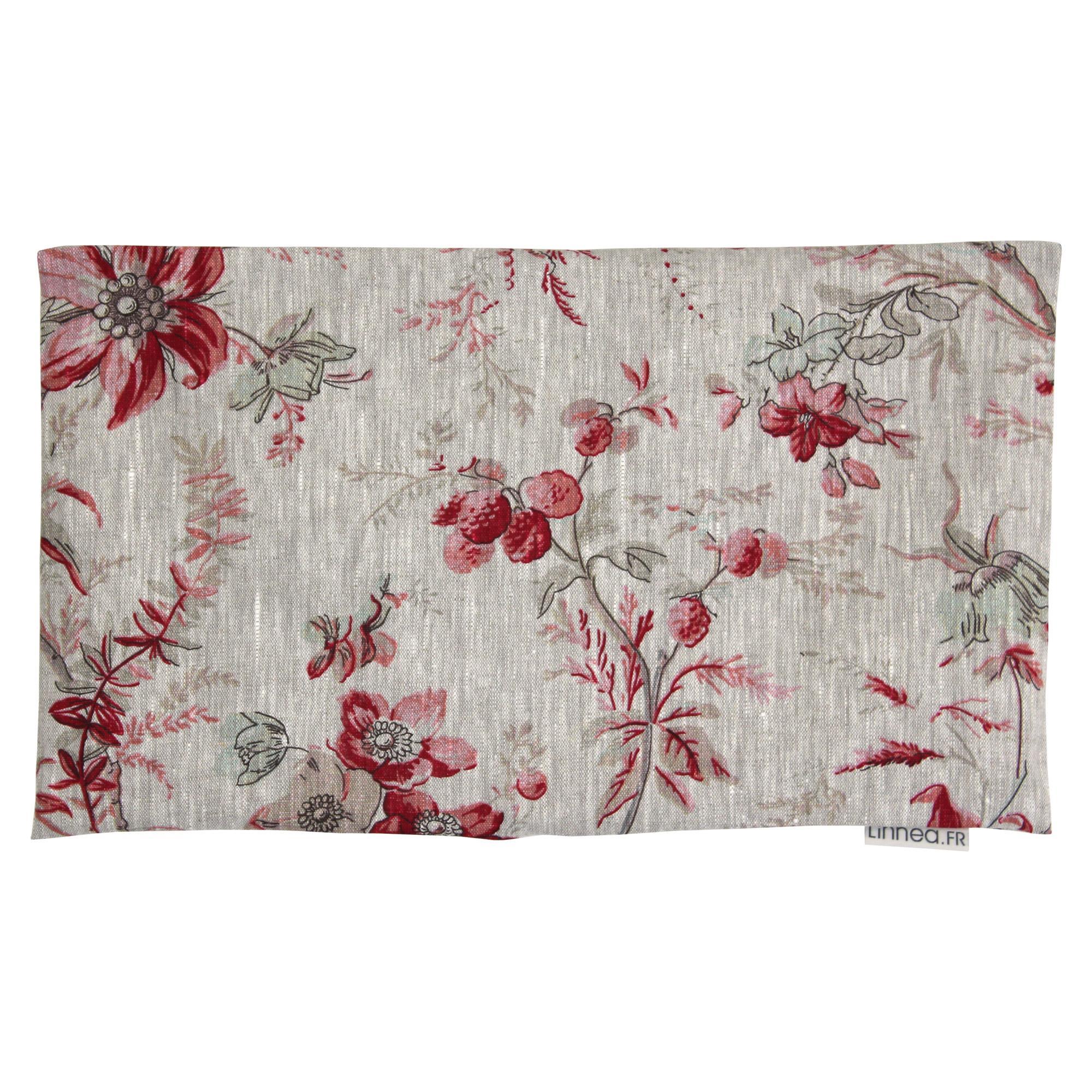 housse de coussin 30x50 cm gabbro amandier rose 100 lin linnea linge de maison et. Black Bedroom Furniture Sets. Home Design Ideas
