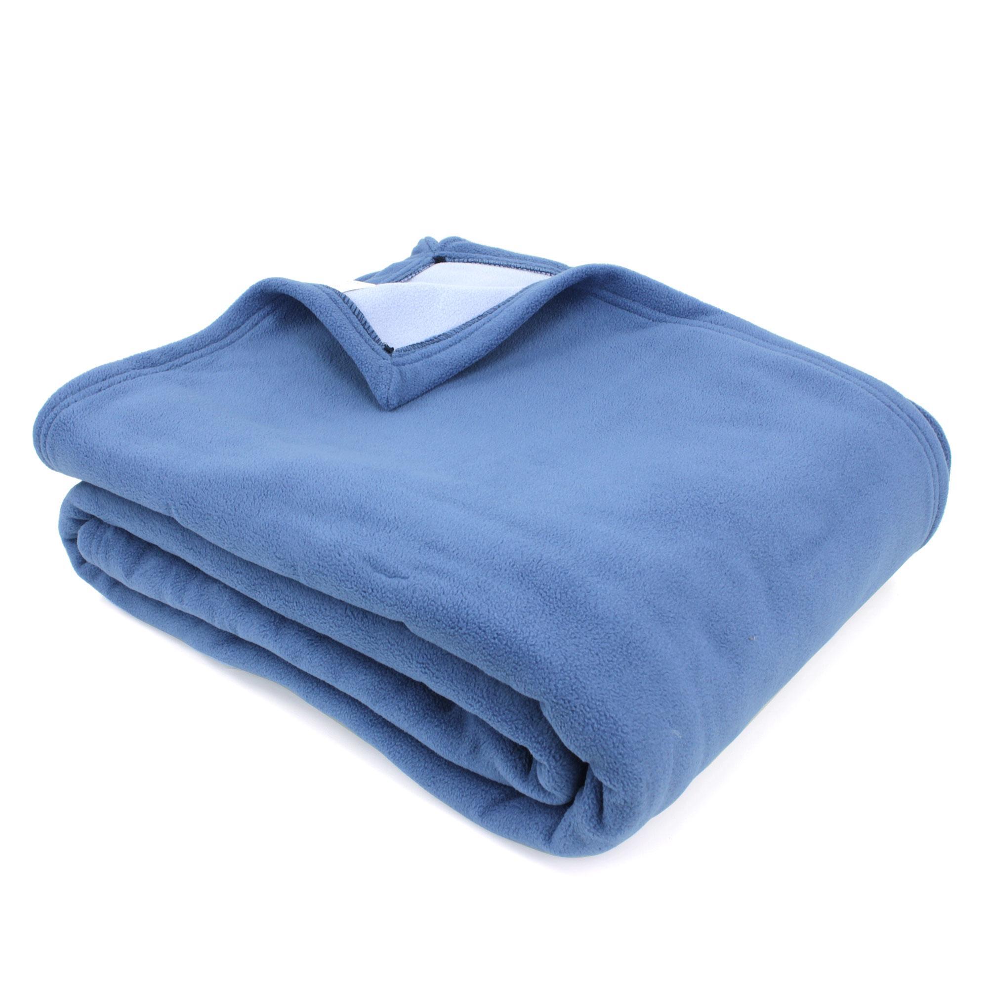 couverture polaire 240x260 cm narvik p trole linnea linge de maison et. Black Bedroom Furniture Sets. Home Design Ideas
