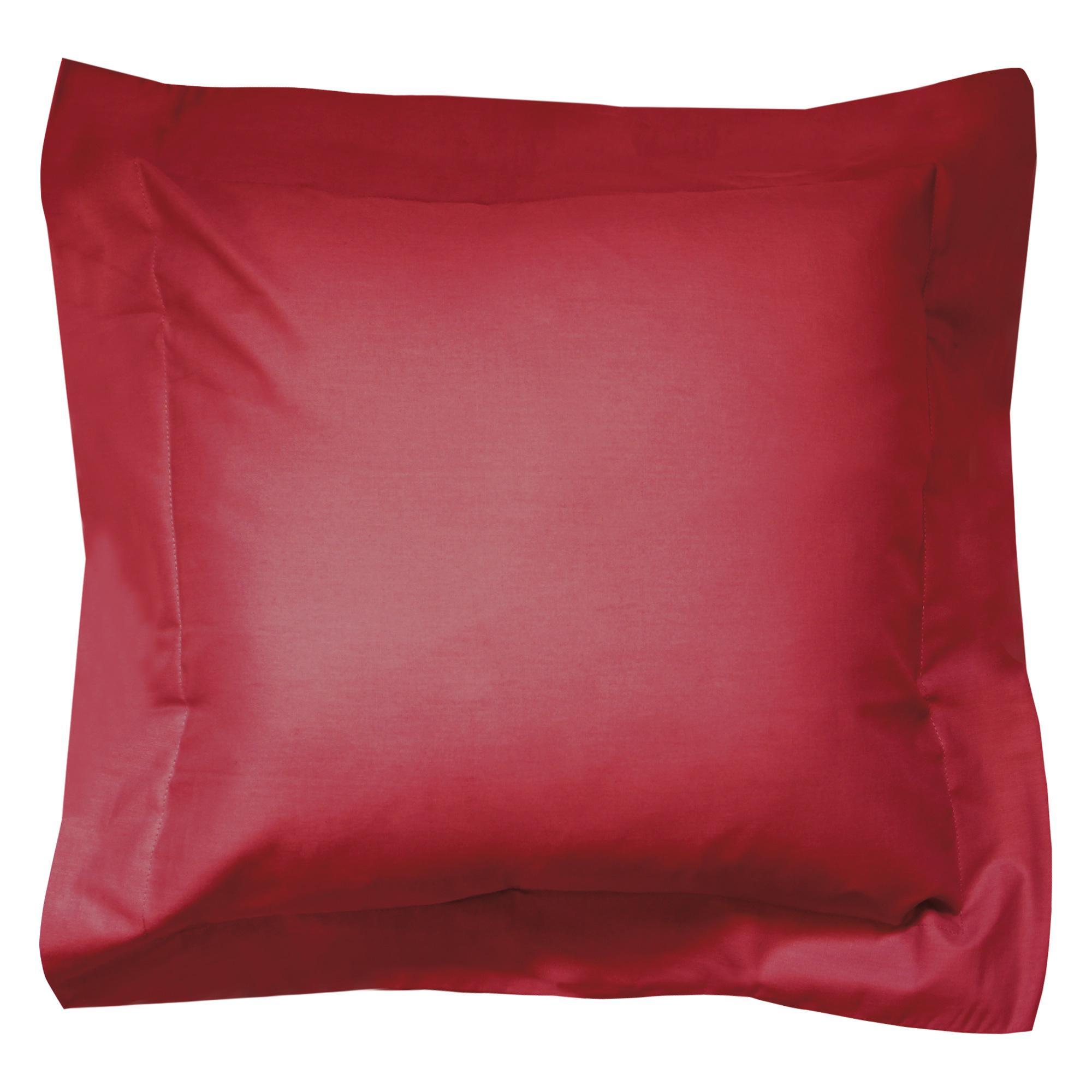 taie d oreiller 40x40 Taie d'oreiller 40x40cm uni pur coton ALTO rouge Garance | Linnea  taie d oreiller 40x40