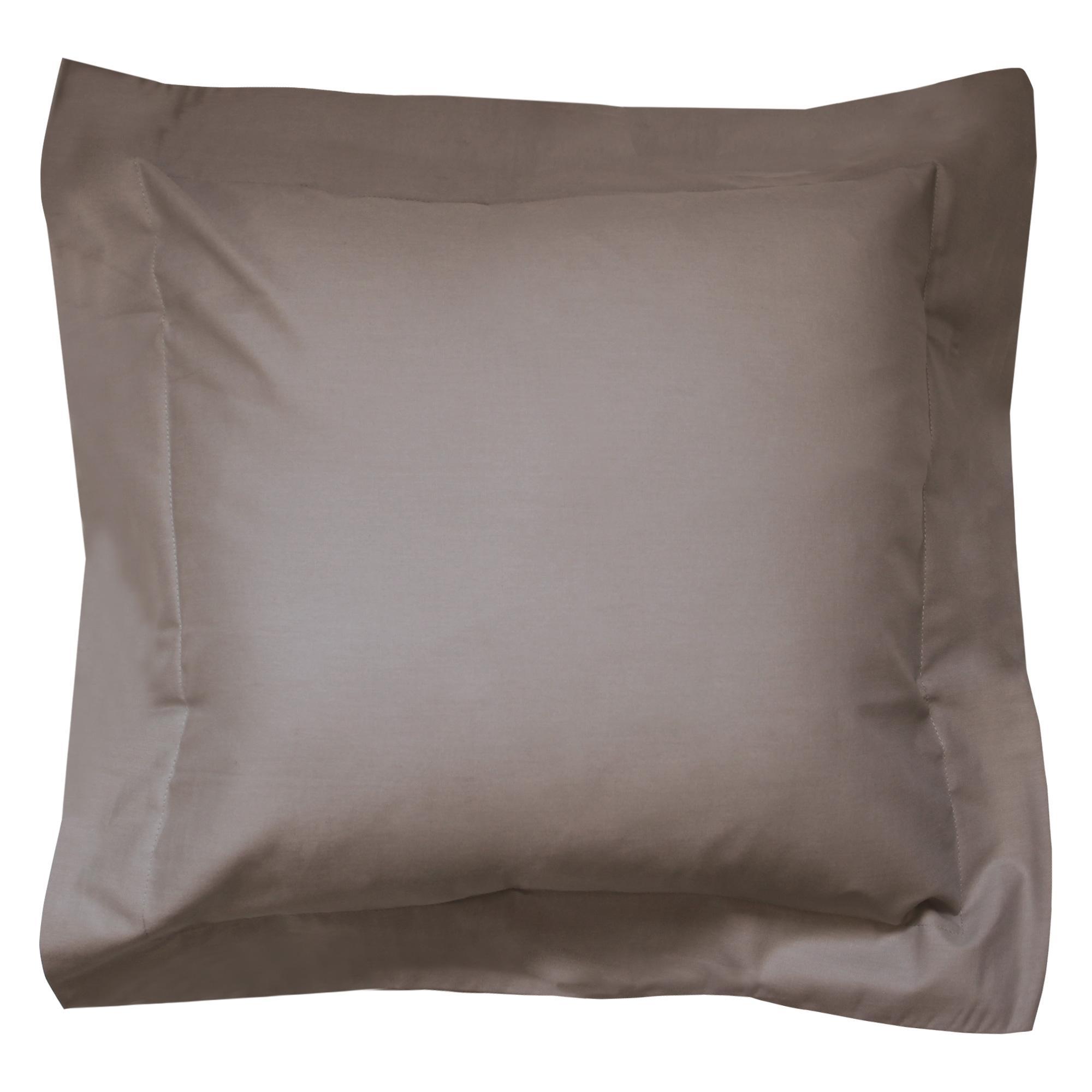 taie d 39 oreiller 40x40cm uni pur coton alto marron muscade linnea linge de maison et. Black Bedroom Furniture Sets. Home Design Ideas