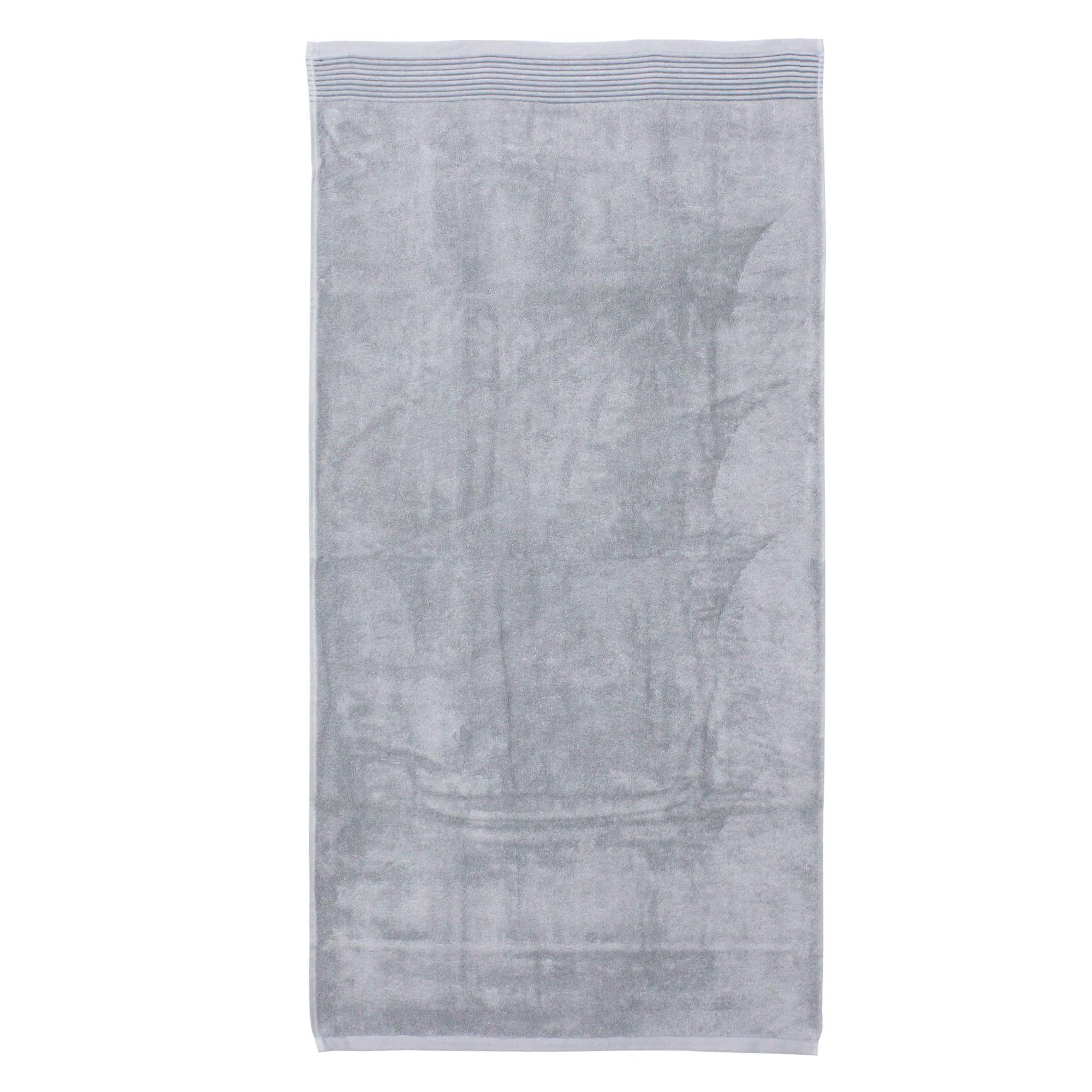 drap de bain 100x150 cm juliet gris argent 520 g m2 linnea linge de maison et. Black Bedroom Furniture Sets. Home Design Ideas
