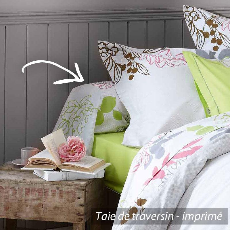 taie de traversin 240x43 cm scali linnea linge de maison et. Black Bedroom Furniture Sets. Home Design Ideas