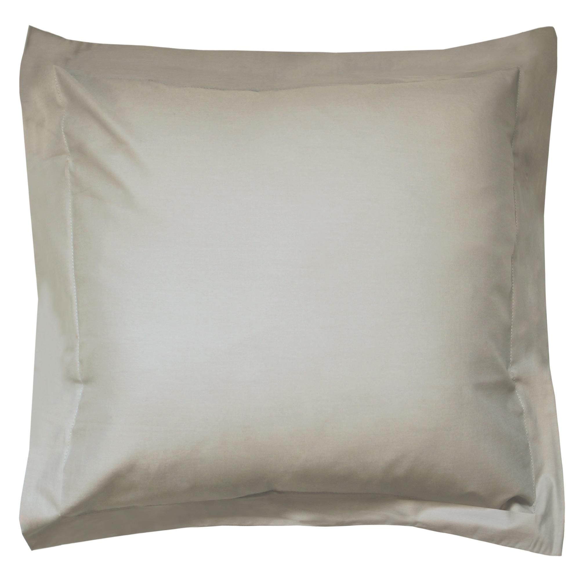 taie d 39 oreiller 80x80cm uni pur coton alto marron chamois linnea linge de maison et. Black Bedroom Furniture Sets. Home Design Ideas