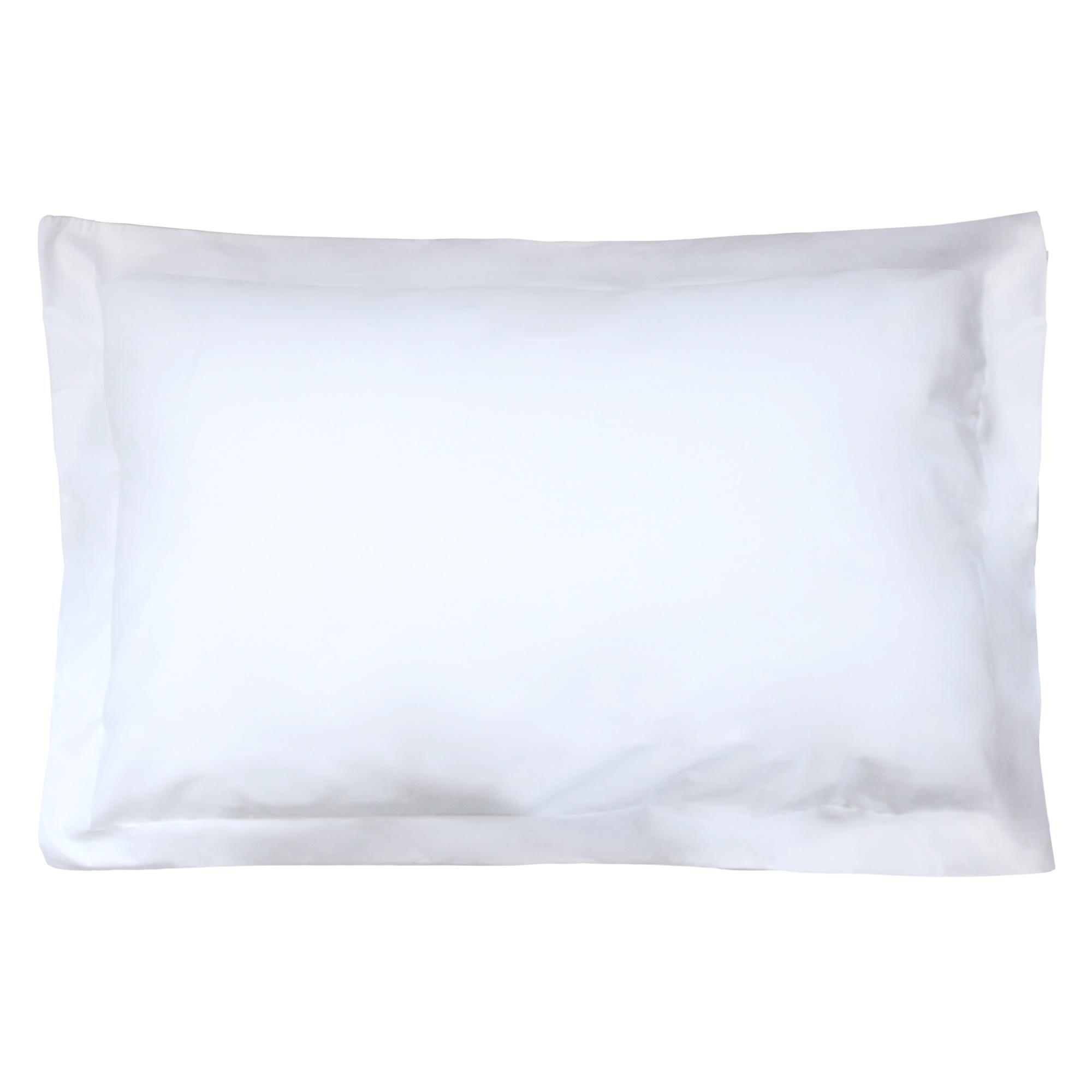 taie d oreiller 50x80 Taie d'oreiller 80x50cm uni pur coton ALTO Blanc | Linnea, linge  taie d oreiller 50x80