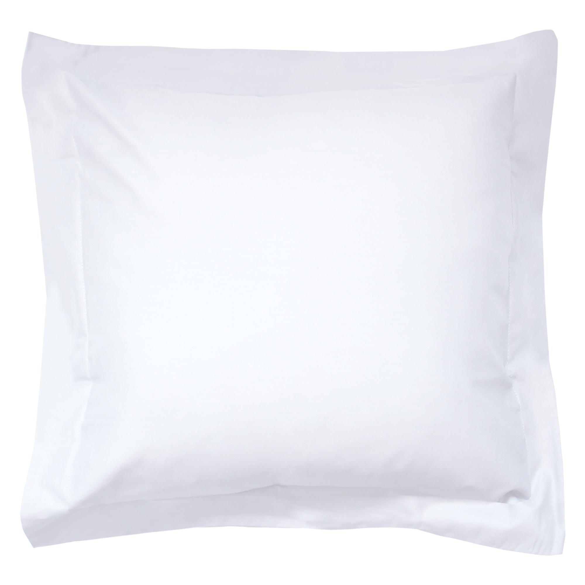 taie d 39 oreiller 65x65cm uni pur percale primo blanc linnea linge de maison et. Black Bedroom Furniture Sets. Home Design Ideas