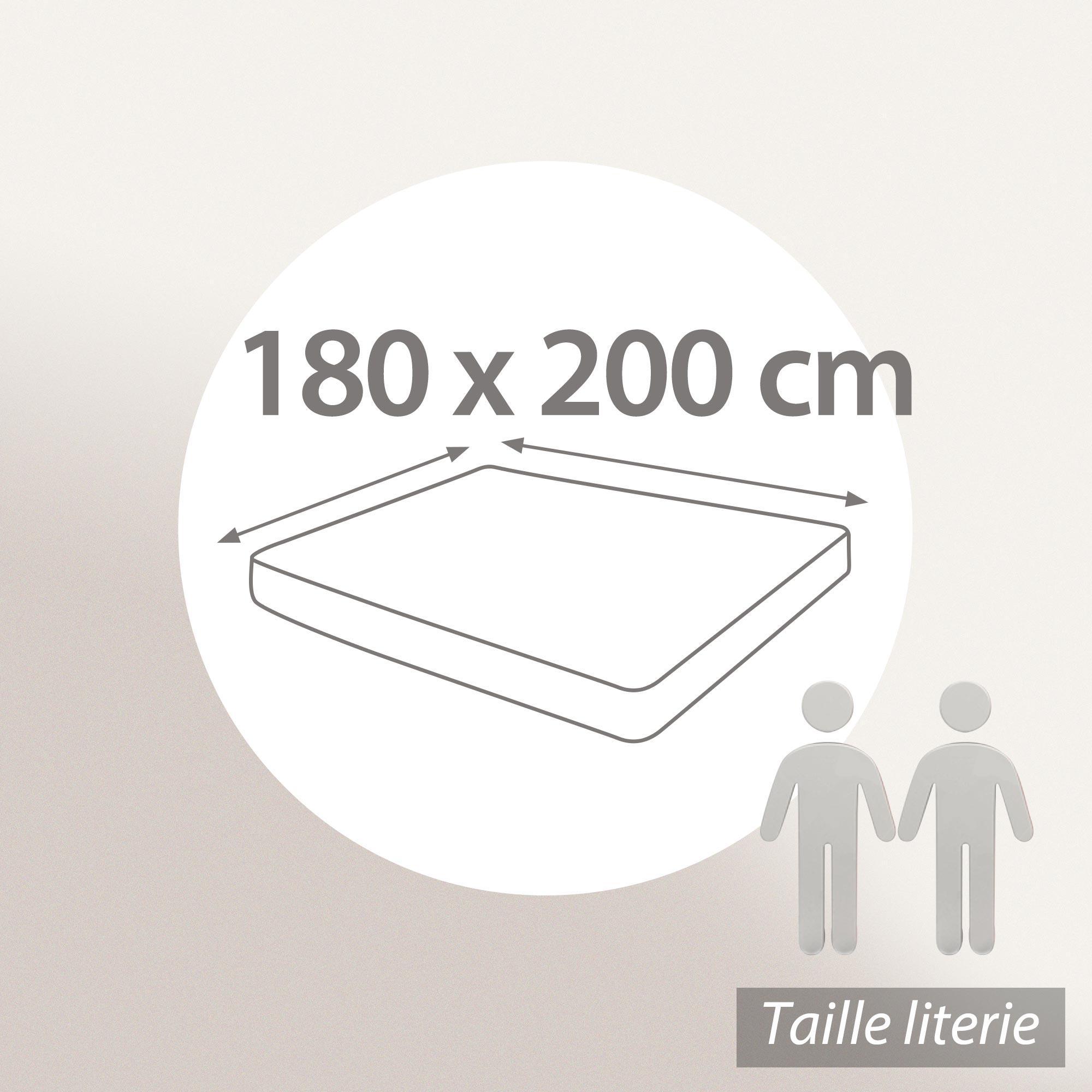 al se plate 180x200 cm achua molleton 100 coton 400 g m2 matelas 15cm 23cm linnea. Black Bedroom Furniture Sets. Home Design Ideas