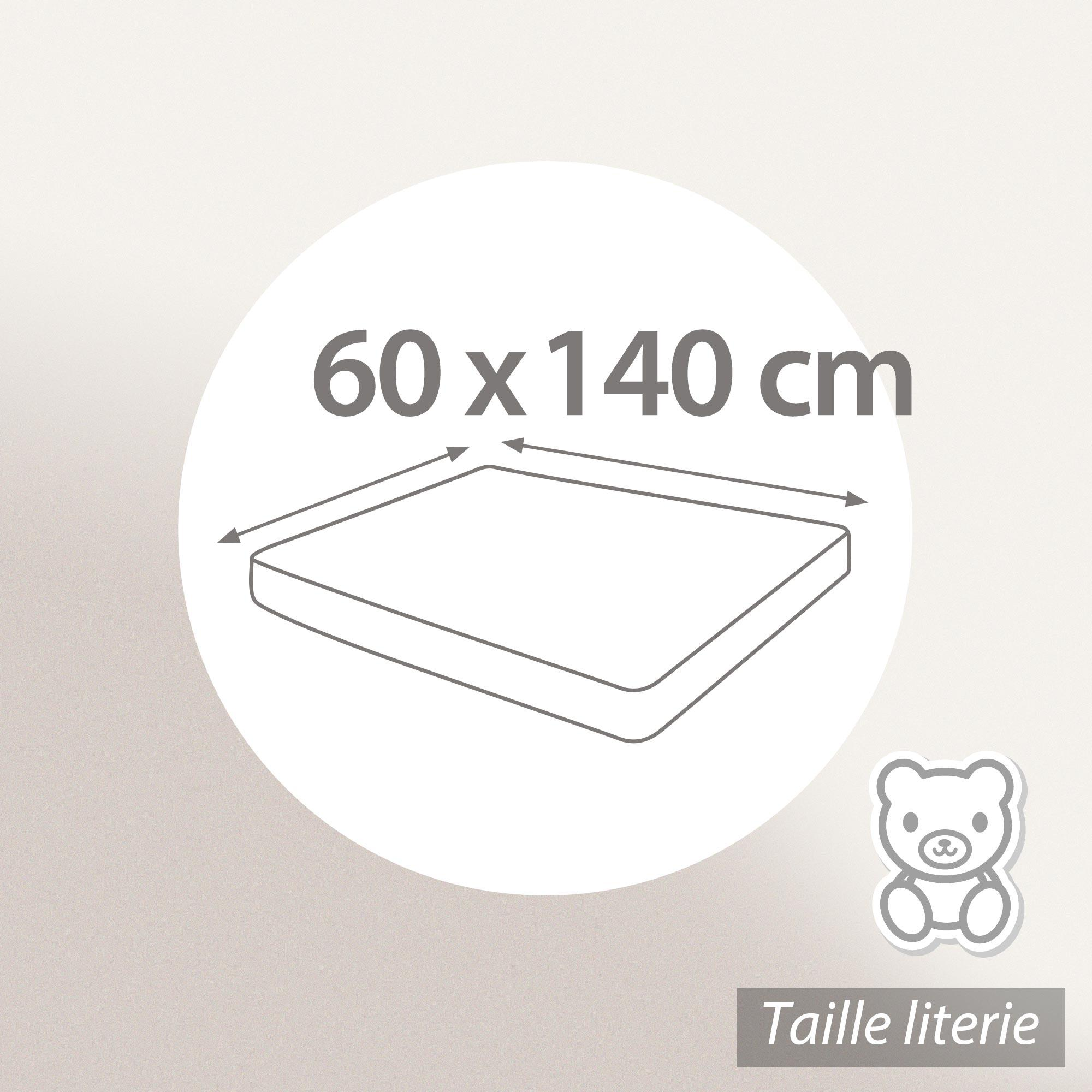 al se plate 60x140 cm achua molleton 100 coton 400 g m2 matelas 15cm maxi linnea linge. Black Bedroom Furniture Sets. Home Design Ideas