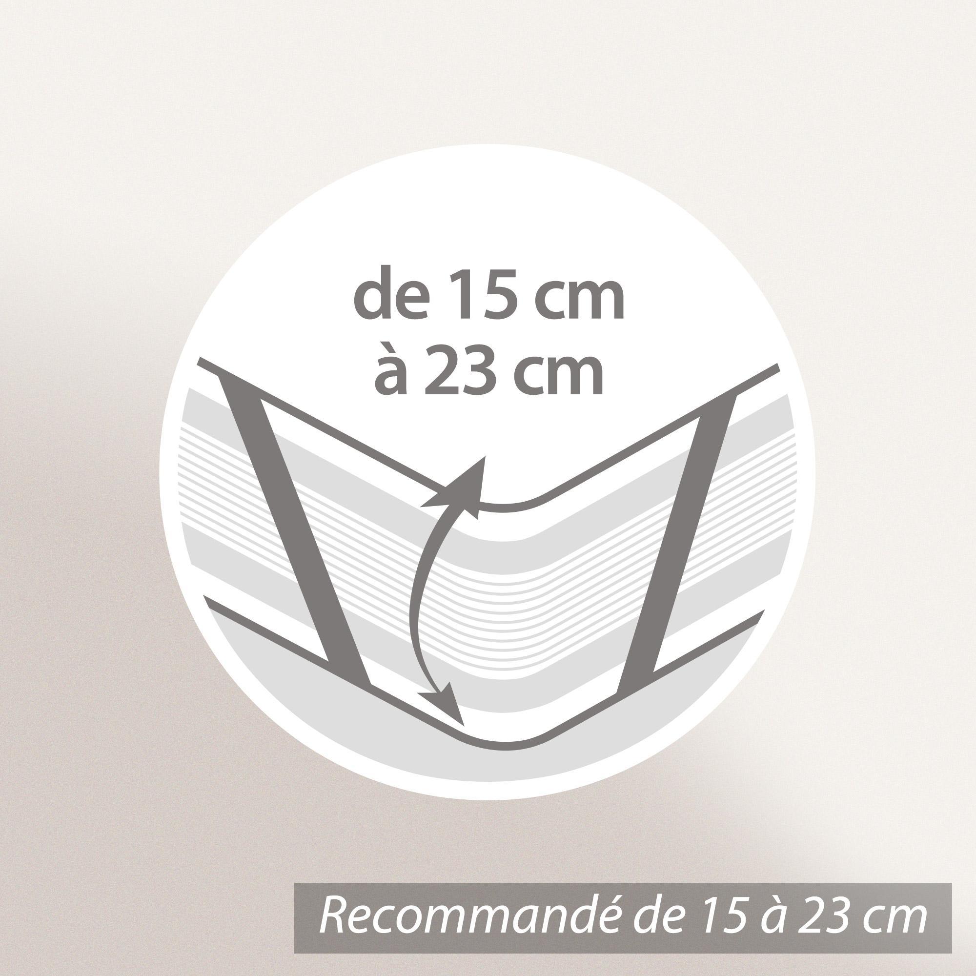 al se plate 80x200 cm achua molleton 100 coton 400 g m2 matelas 15cm 23cm linnea linge. Black Bedroom Furniture Sets. Home Design Ideas