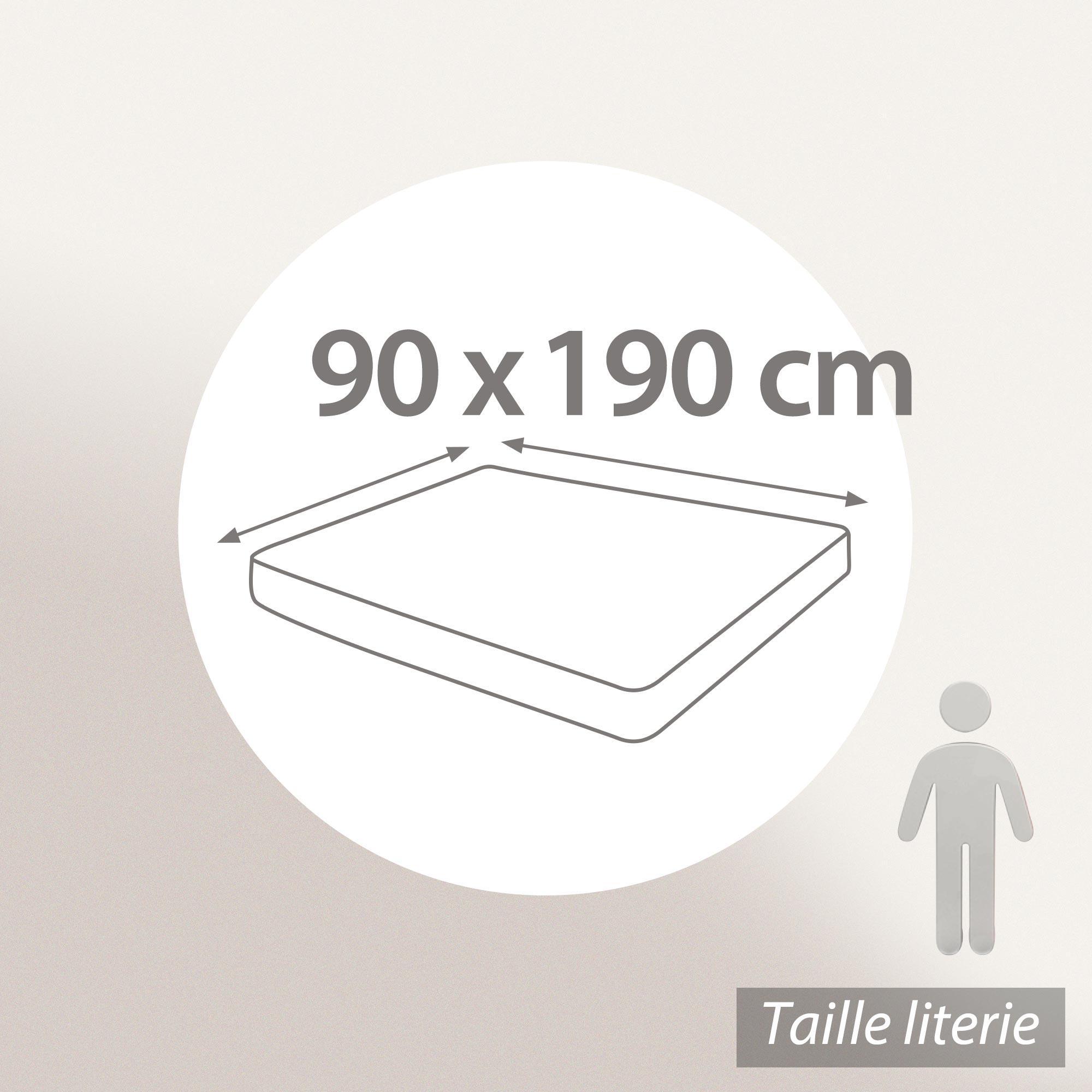 al se plate 90x190 cm achua molleton 100 coton 400 g m2 matelas 15cm 23cm linnea linge. Black Bedroom Furniture Sets. Home Design Ideas