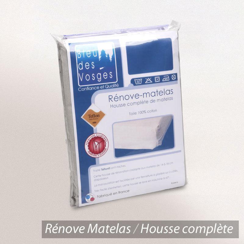 R nove matelas rubens housse ecru ray beige 180x200 linnea vente de linge de maison - Housse integrale matelas 180x200 ...