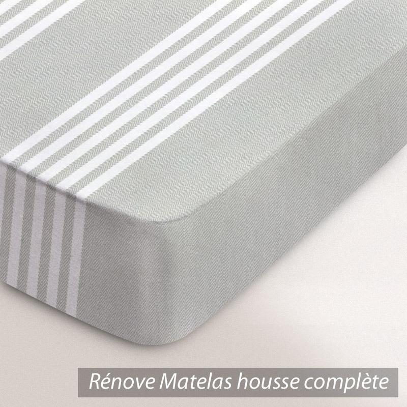 r nove matelas rubens housse ecru ray beige. Black Bedroom Furniture Sets. Home Design Ideas