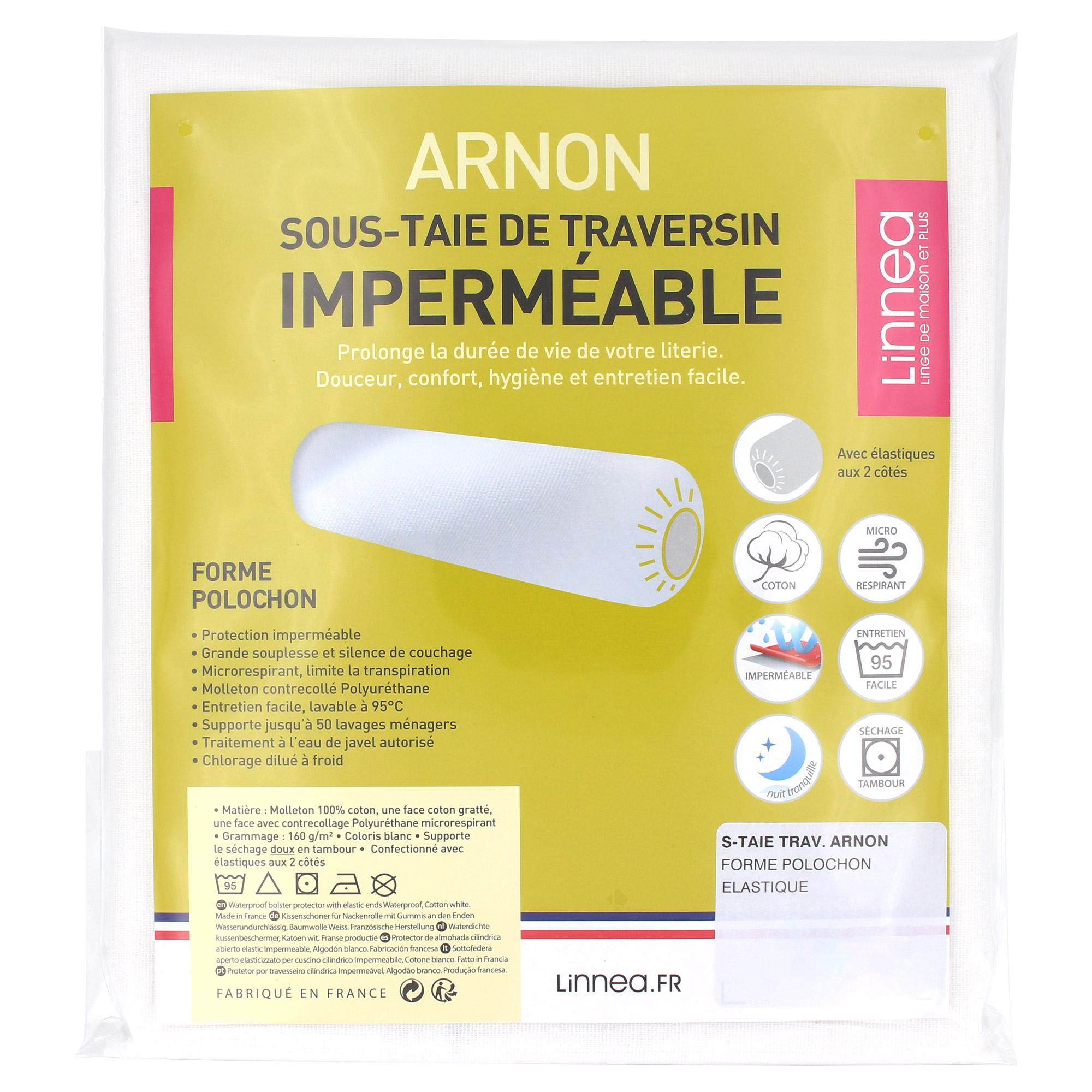 Housse de protection de traversin imperm able arnaud for Housse traversin