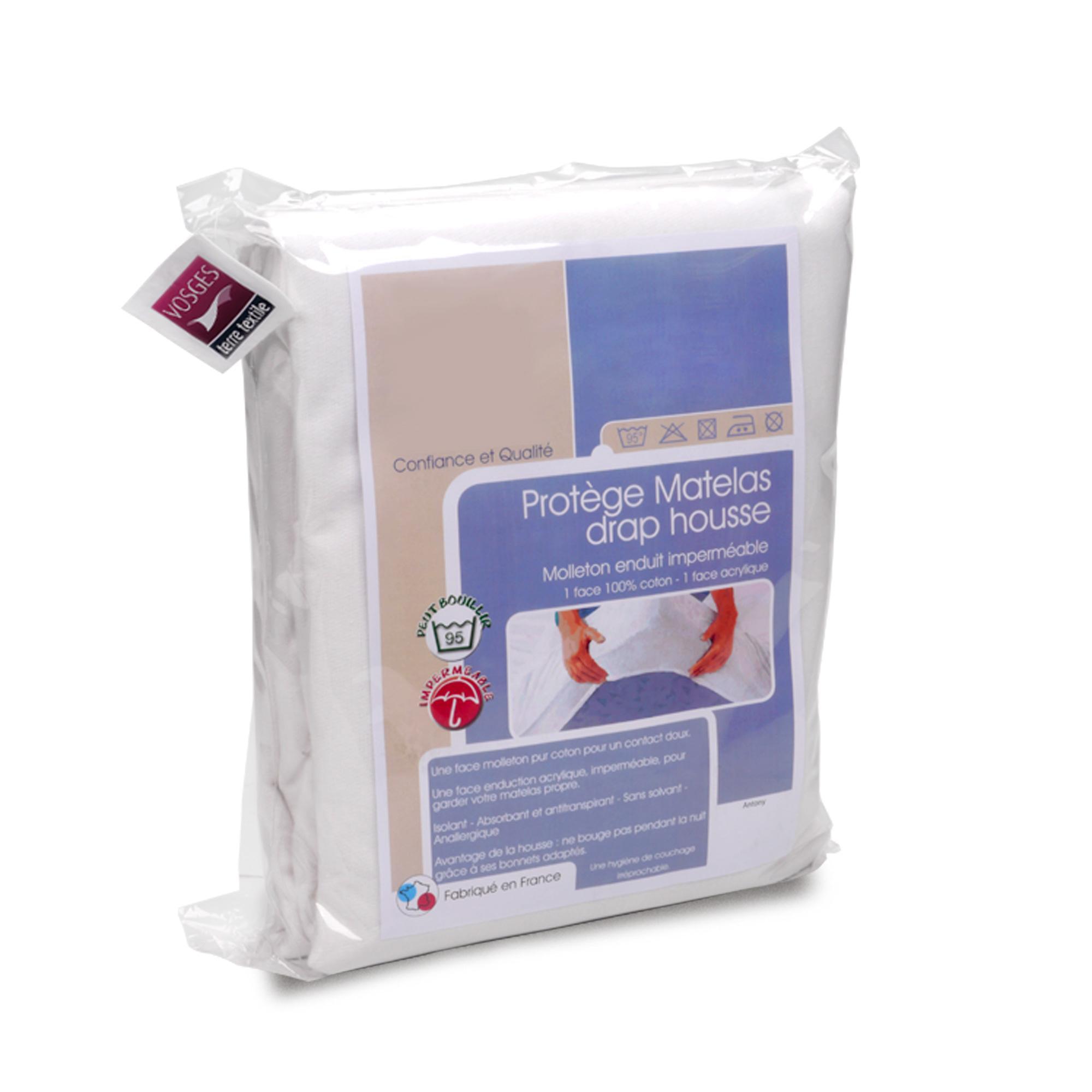 prot ge matelas imperm able antony blanc 80x200 linnea linge de maison et. Black Bedroom Furniture Sets. Home Design Ideas