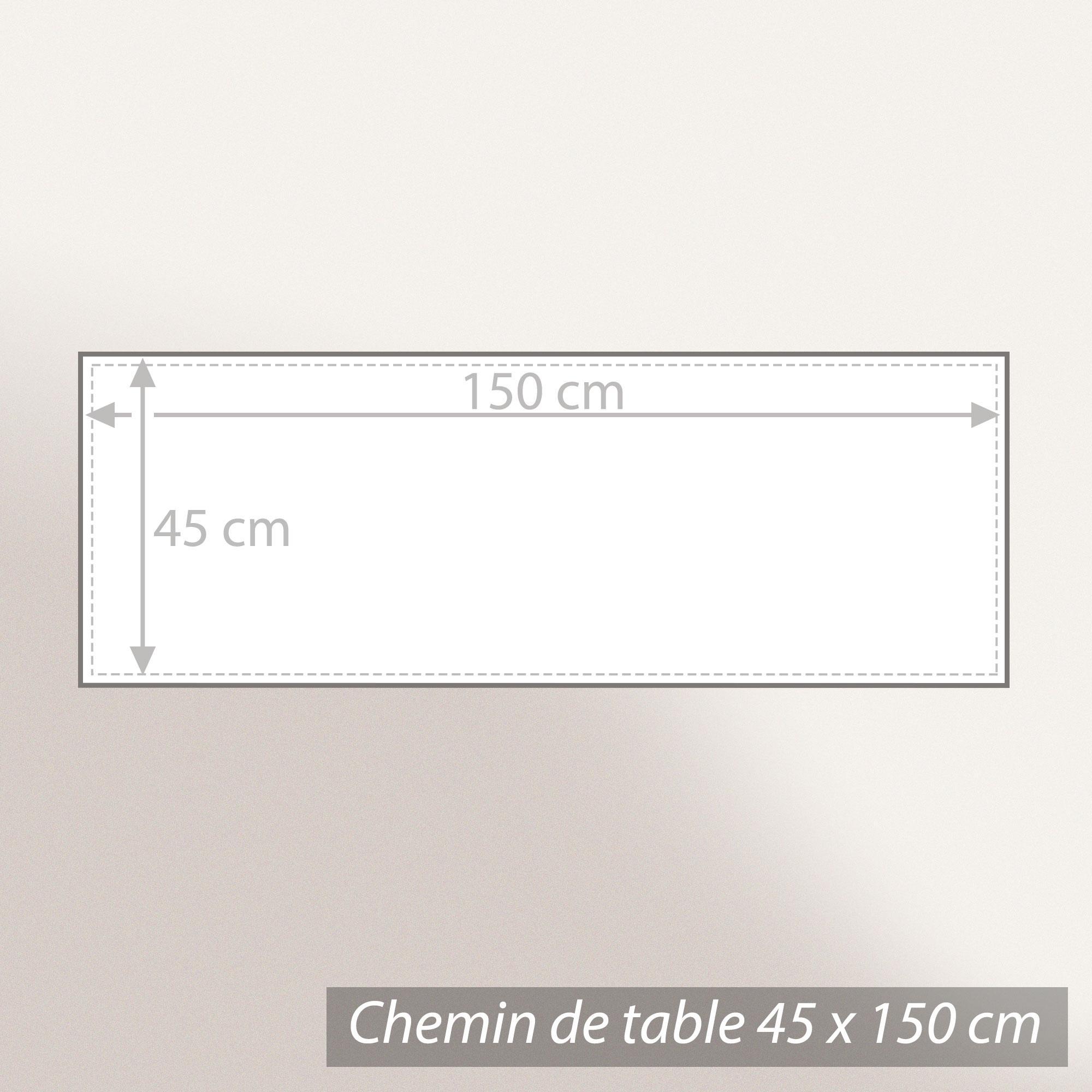 chemin de table 45x150 cm jacquard 100 coton cube gris perle linnea linge de maison et. Black Bedroom Furniture Sets. Home Design Ideas