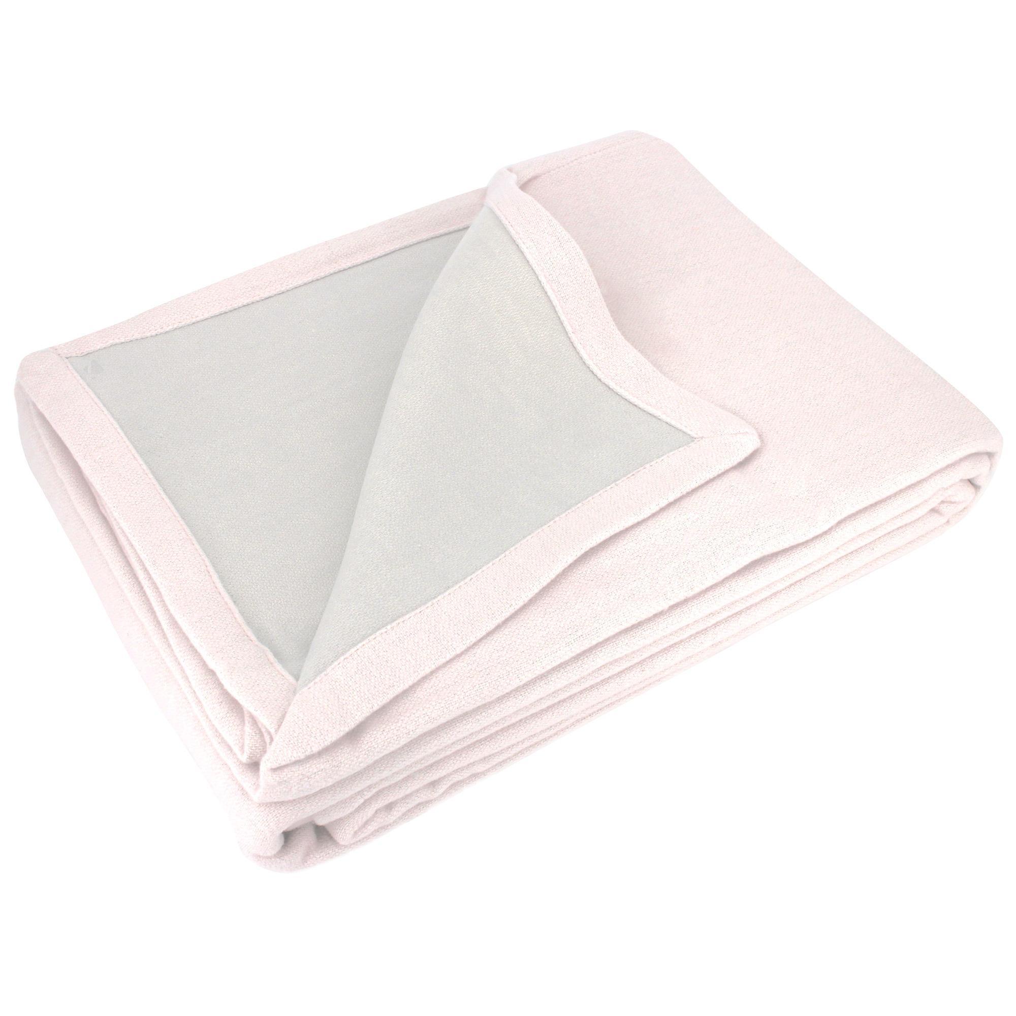 couverture t 240x260 cm 100 coton 260 g m2 provence bicolore rose poudr perle linnea. Black Bedroom Furniture Sets. Home Design Ideas