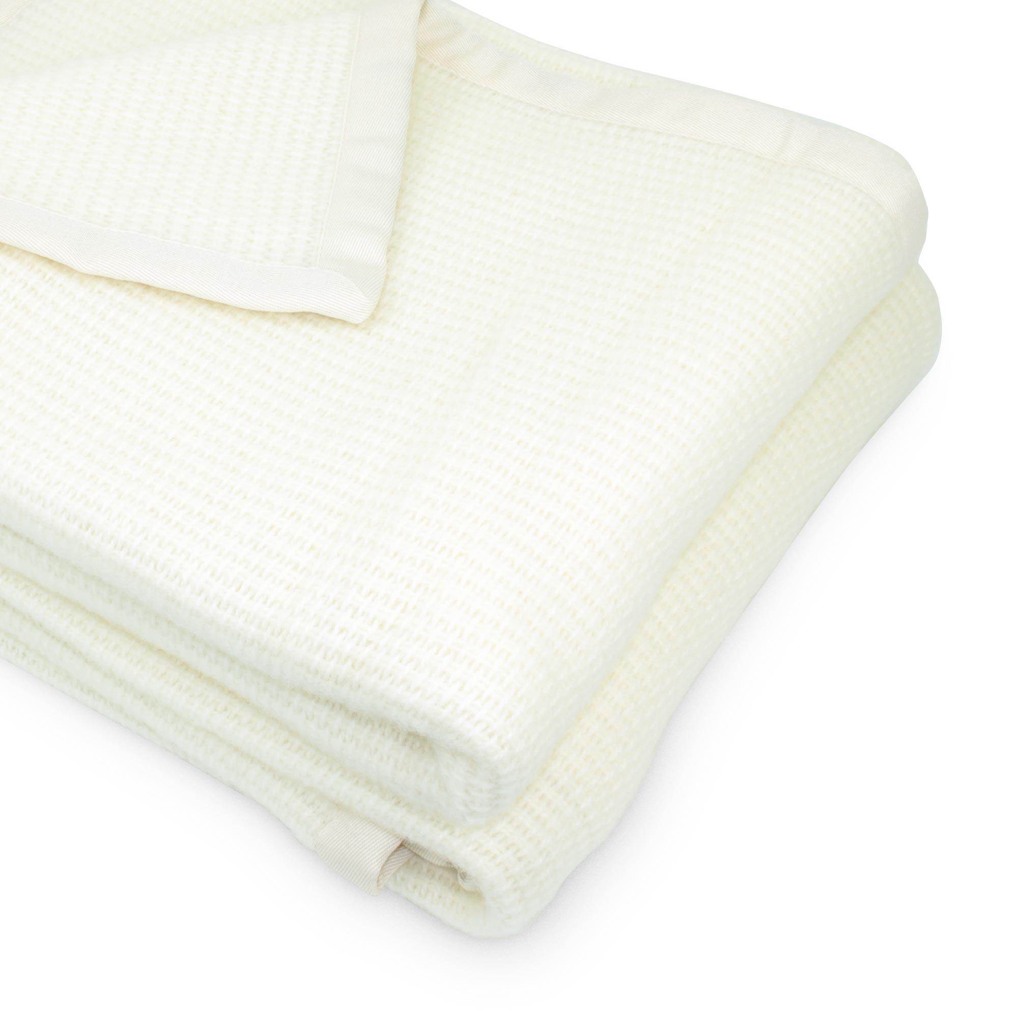 couverture 220x240 laine lambswool 280 g m adelaide blanc naturel ebay. Black Bedroom Furniture Sets. Home Design Ideas