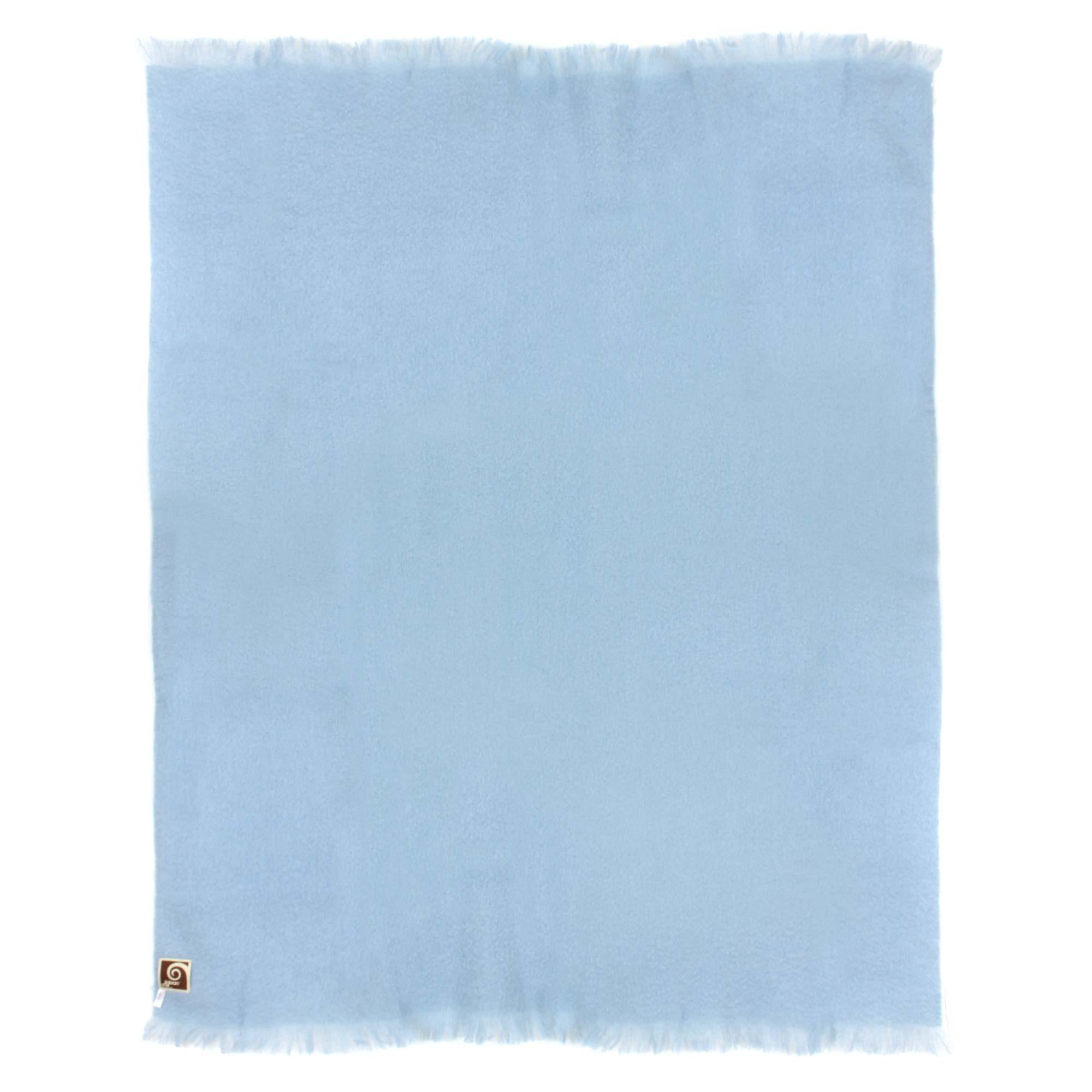 couverture laine mohair 180x220 cm thesee bleu glacier linnea linge de maison et. Black Bedroom Furniture Sets. Home Design Ideas