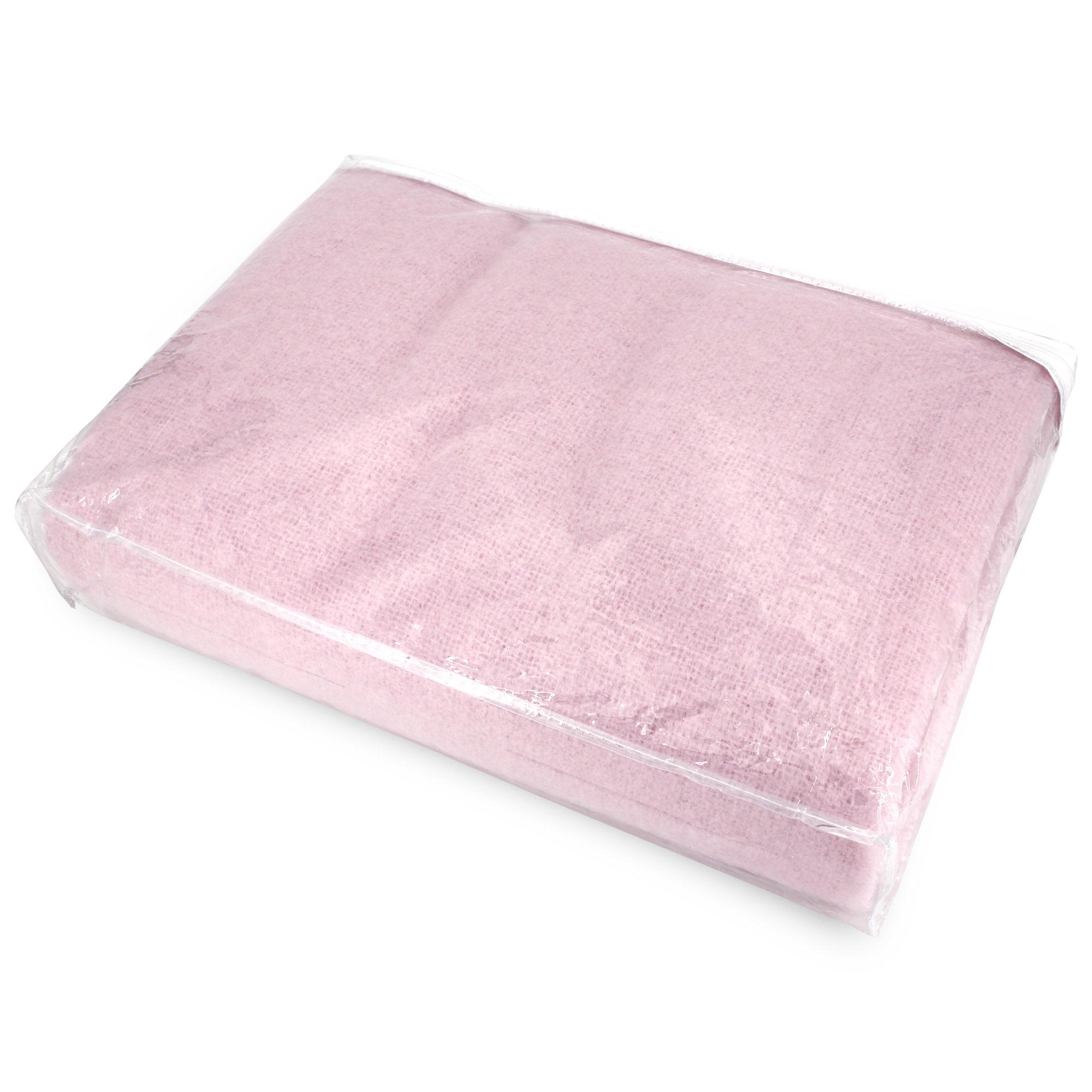 couverture laine mohair 180x220 cm thesee rose poudre linnea linge de maison et. Black Bedroom Furniture Sets. Home Design Ideas