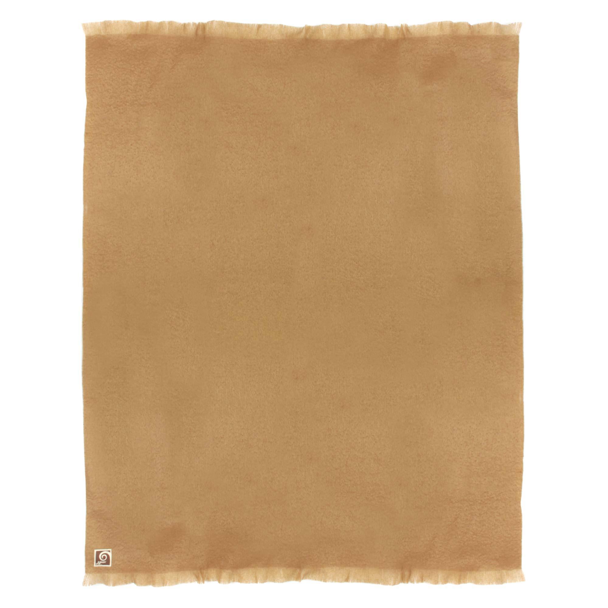 couverture laine mohair 220x240 cm thesee marron chameau linnea linge de maison et. Black Bedroom Furniture Sets. Home Design Ideas