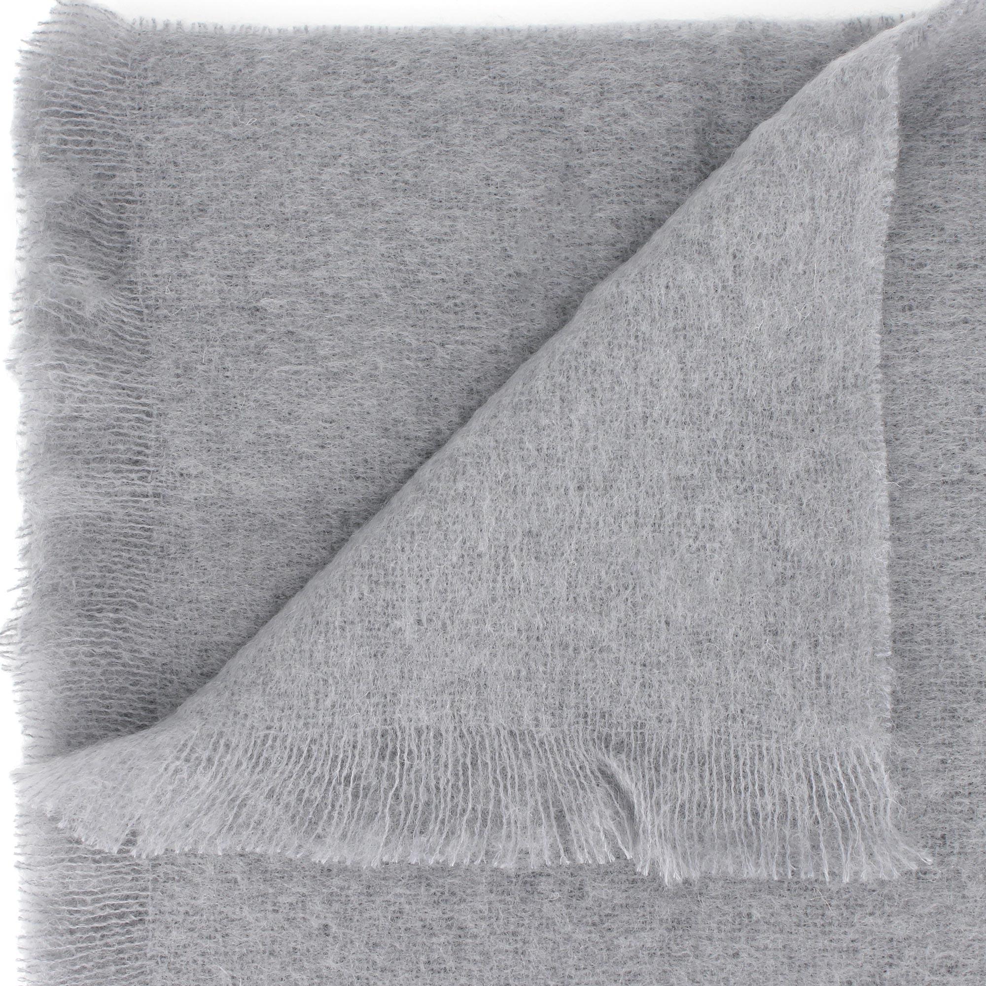 couverture laine mohair 220x240 cm thesee gris perle linnea linge de maison et. Black Bedroom Furniture Sets. Home Design Ideas
