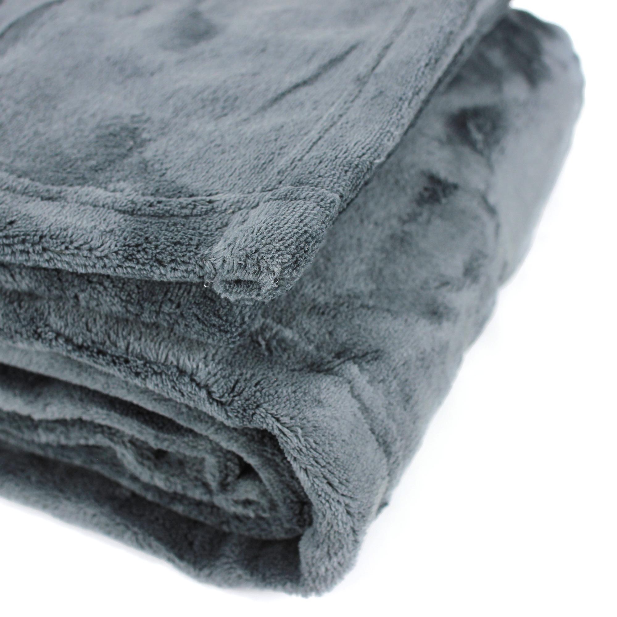 couverture apollo microfibre 180x240 cm gris acier linnea vente de linge de maison. Black Bedroom Furniture Sets. Home Design Ideas