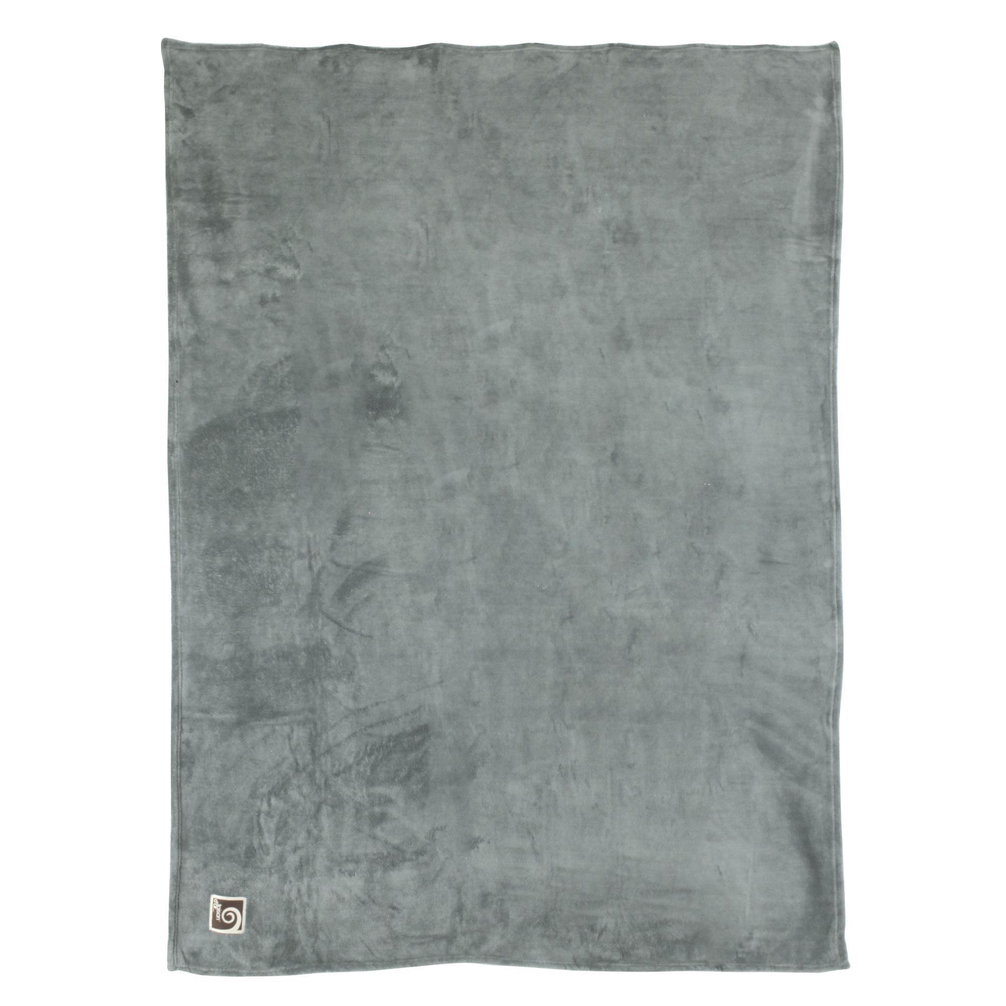 couverture apollo microfibre 220x240 cm gris argent. Black Bedroom Furniture Sets. Home Design Ideas