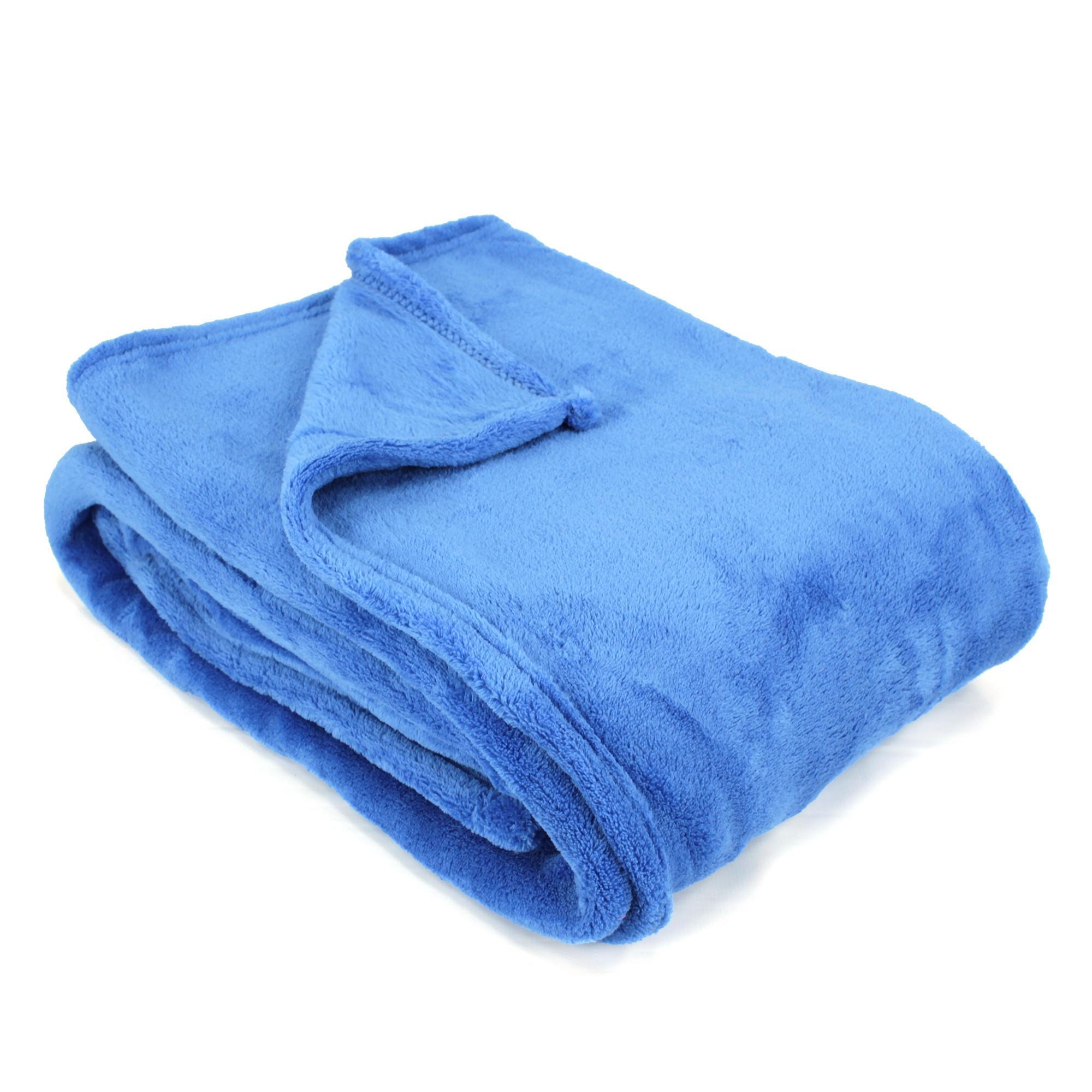 couverture apollo microfibre 220x240 cm bleu azur linnea vente de linge de maison. Black Bedroom Furniture Sets. Home Design Ideas