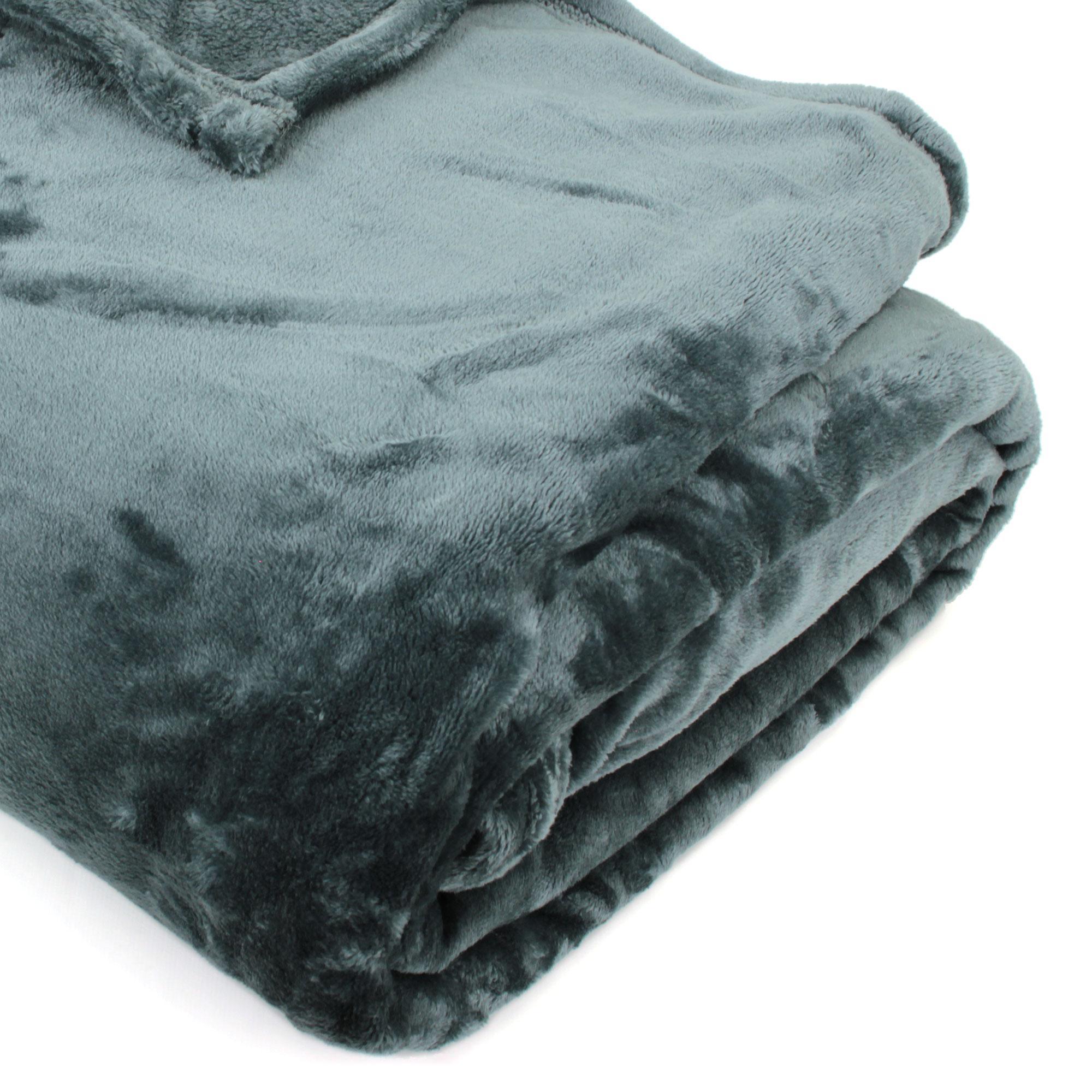 couverture polaire 240x260 microfibre velvet gris acier ebay. Black Bedroom Furniture Sets. Home Design Ideas