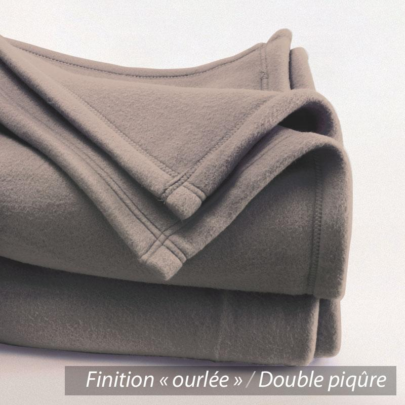 couverture polaire 240x300 cm teddy marron taupe 100 polyester 350 g m2 trait non feu. Black Bedroom Furniture Sets. Home Design Ideas