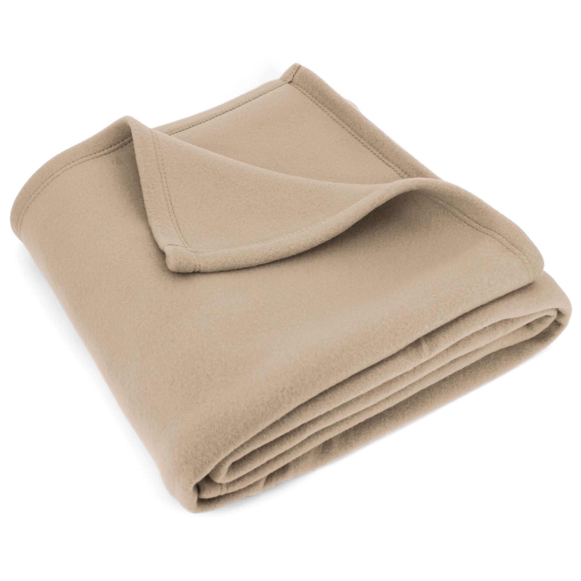 couverture polaire 180x220 cm isba sable 100 polyester 320 g m2 trait non feu linnea. Black Bedroom Furniture Sets. Home Design Ideas