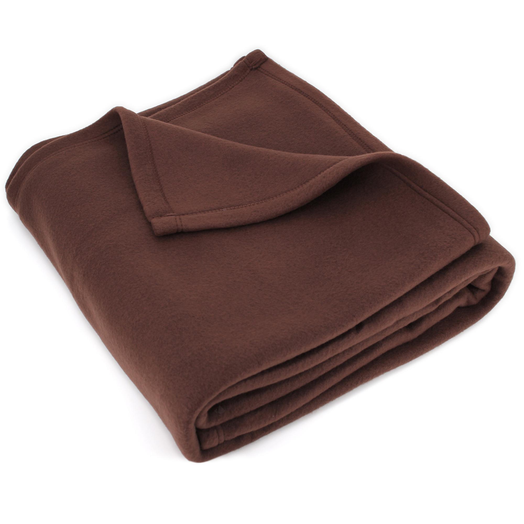 couverture polaire 220x240 cm isba marron chocolat 100 polyester 320 g m2 trait non feu. Black Bedroom Furniture Sets. Home Design Ideas