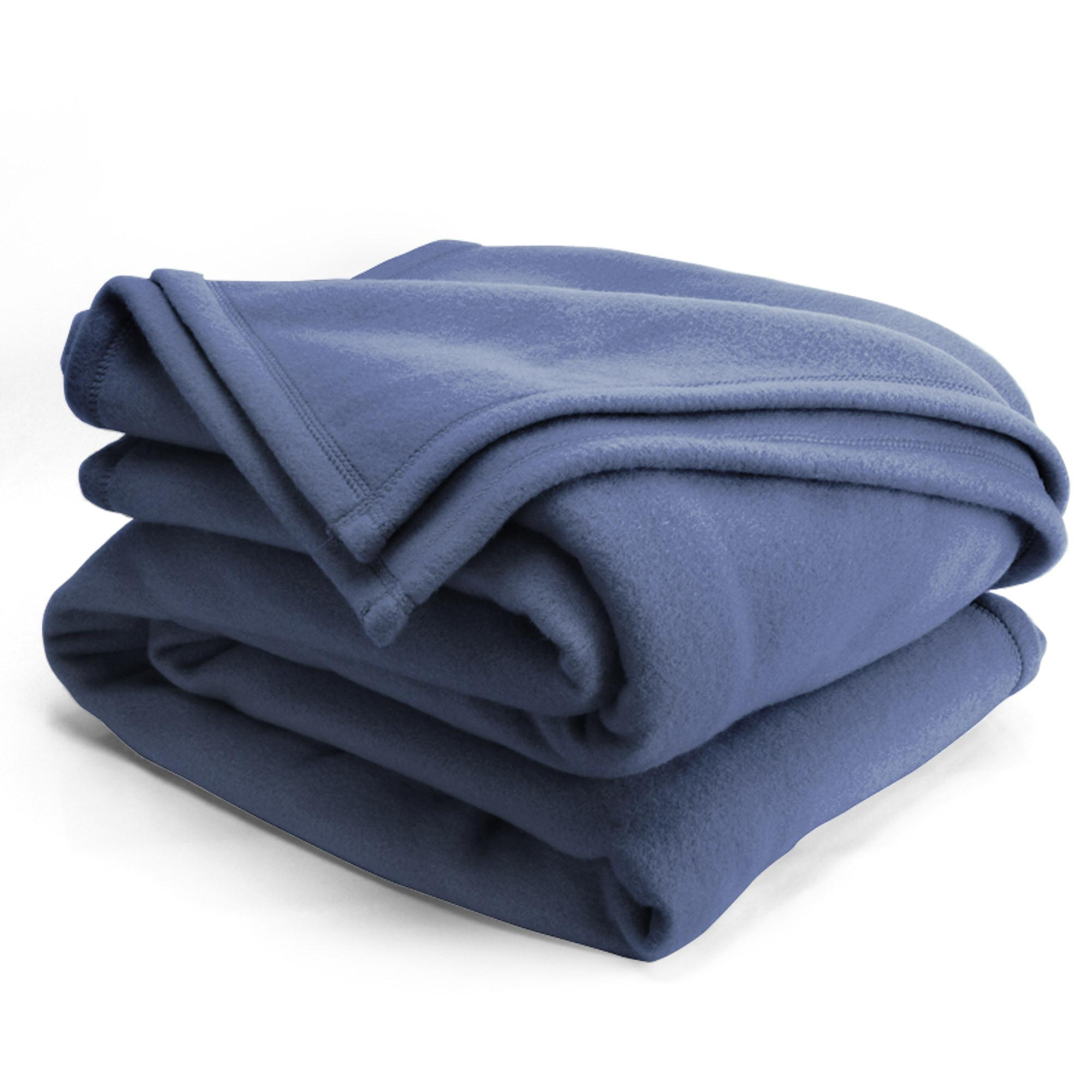 couverture polaire 220x240 cm isba marine 100 polyester 320 g m2 trait non feu linnea. Black Bedroom Furniture Sets. Home Design Ideas