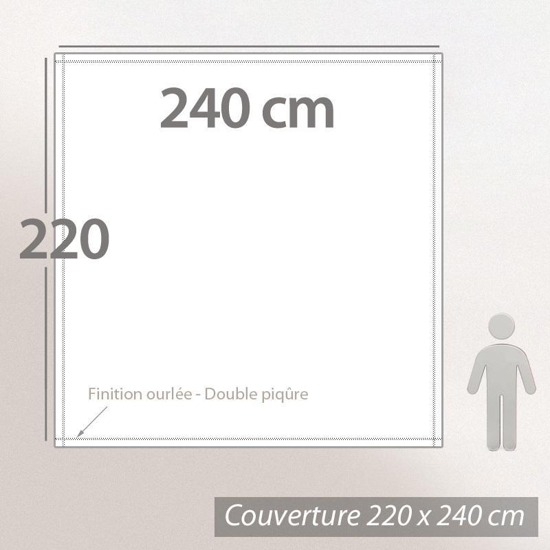 couverture polaire 220x240 cm isba miel 100 polyester 320 g m2 trait non feu linnea. Black Bedroom Furniture Sets. Home Design Ideas
