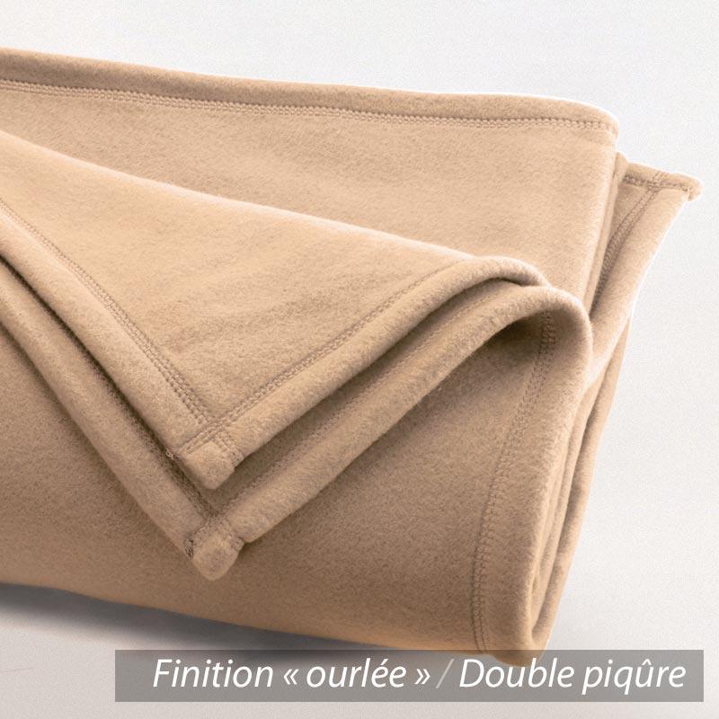 couverture polaire 220x240 cm isba sable 100 polyester 320 g m2 trait non feu linnea. Black Bedroom Furniture Sets. Home Design Ideas