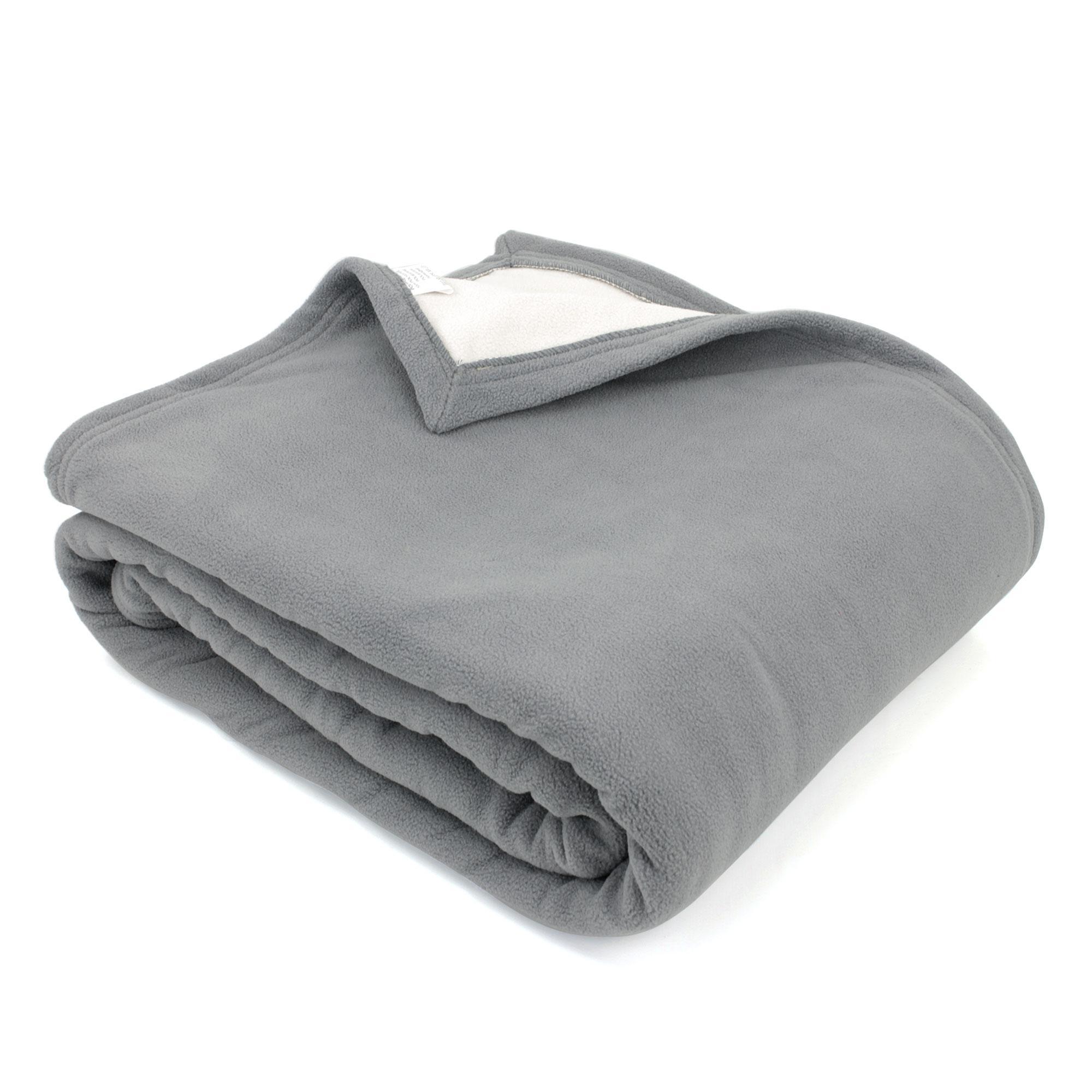 couverture polaire 220x240 cm narvik acier linnea linge de maison et. Black Bedroom Furniture Sets. Home Design Ideas