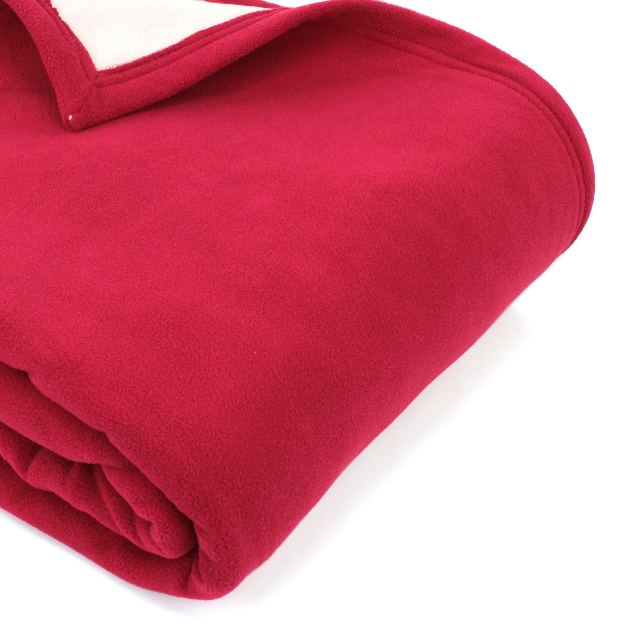 couverture polaire 220x240 cm narvik framboise linnea linge de maison et. Black Bedroom Furniture Sets. Home Design Ideas