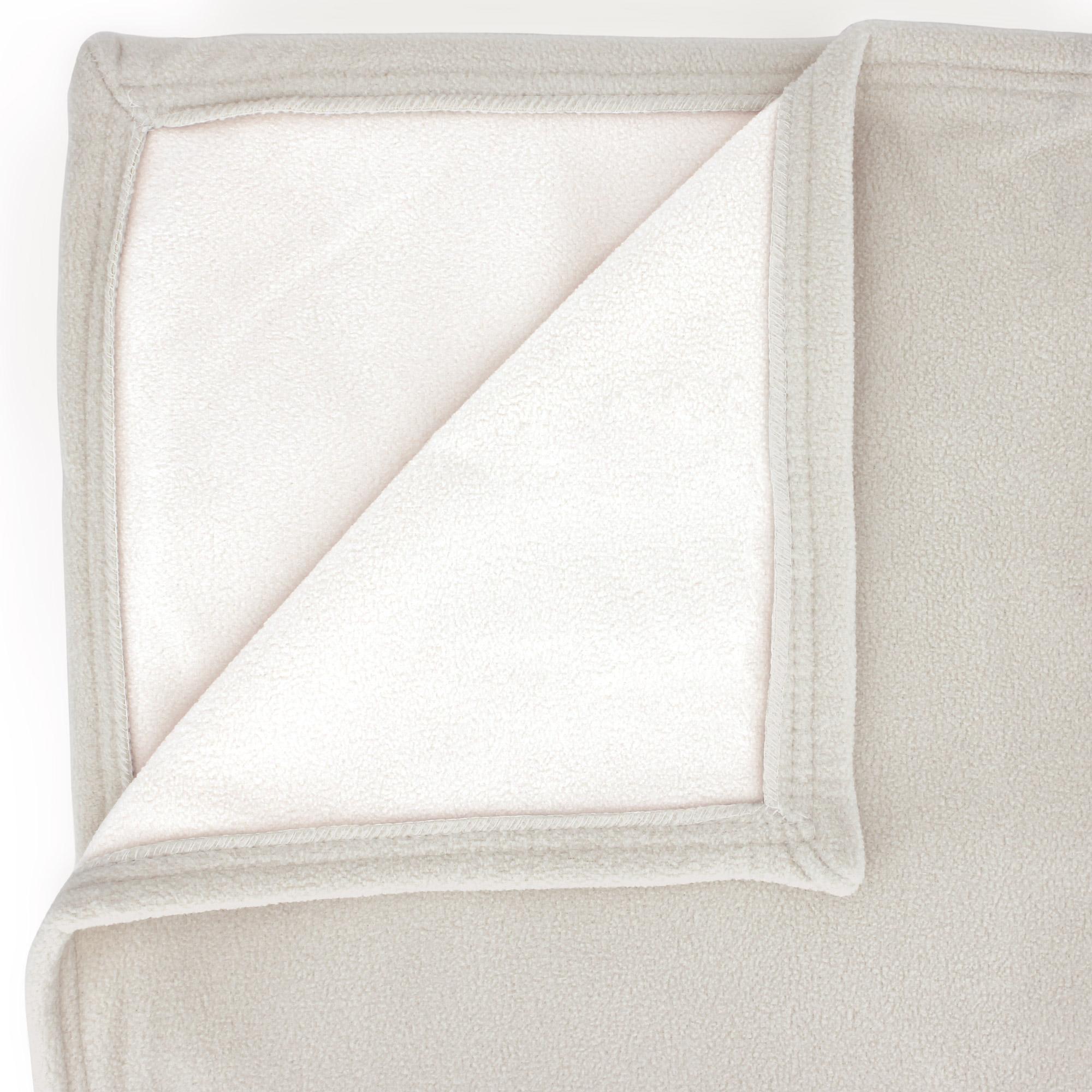 couverture polaire 220x240 cm narvik galet naturel linnea linge de maison et. Black Bedroom Furniture Sets. Home Design Ideas